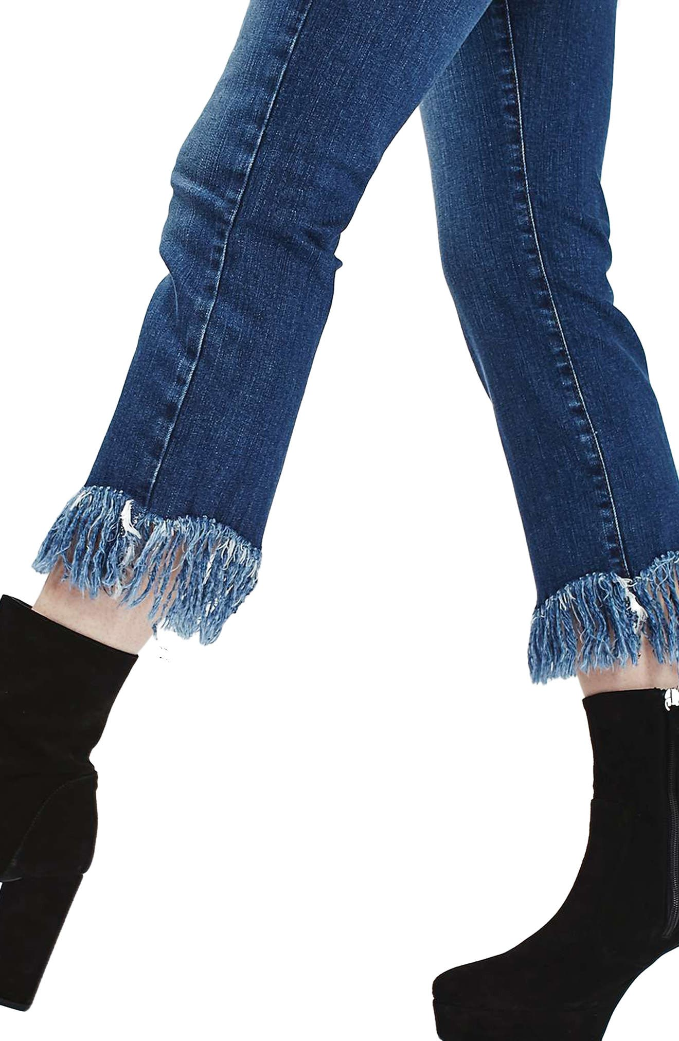 Dree Fringe Crop Jeans,                             Alternate thumbnail 3, color,                             401