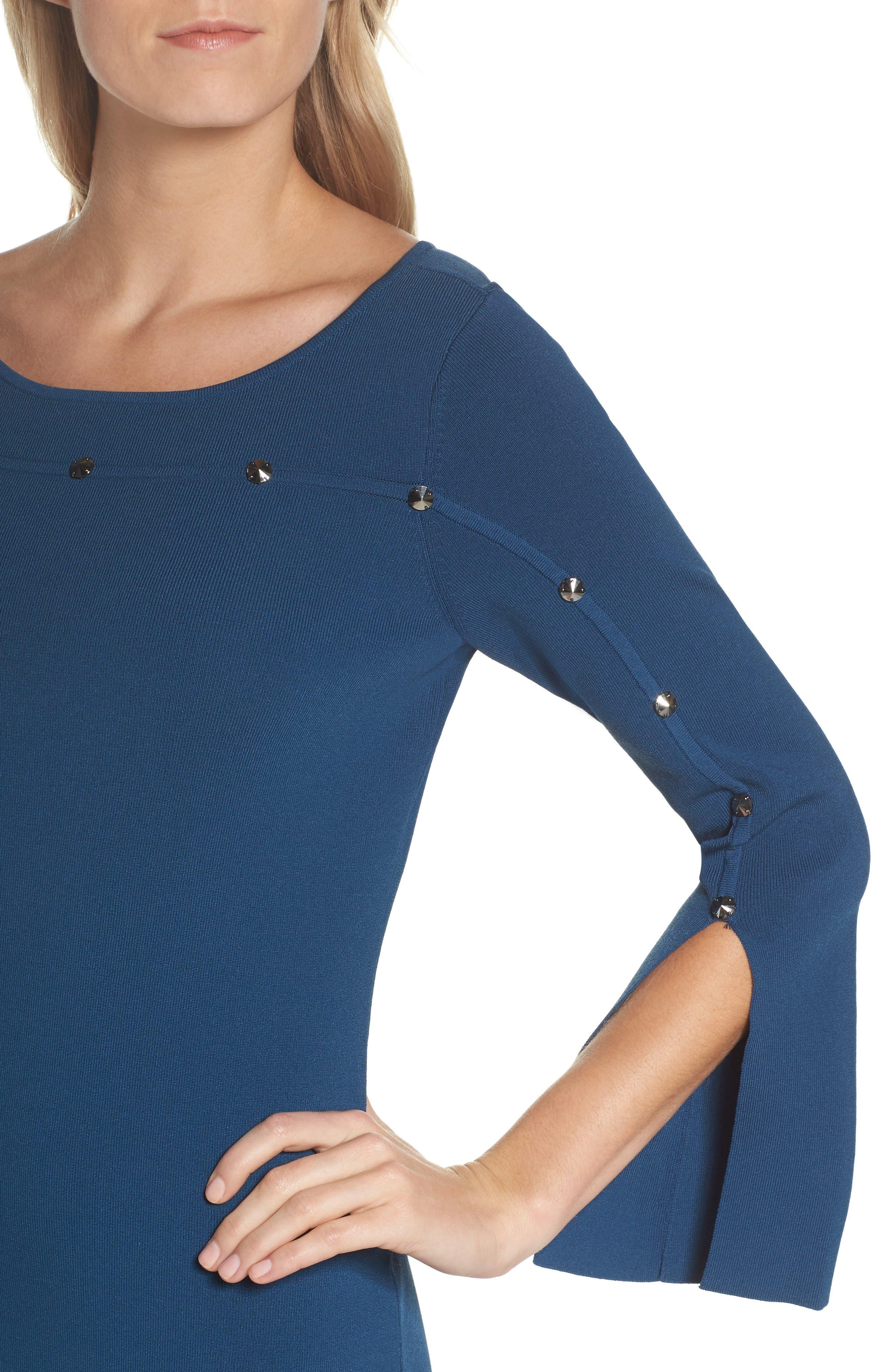 Studded Asymmetrical Dress,                             Alternate thumbnail 8, color,