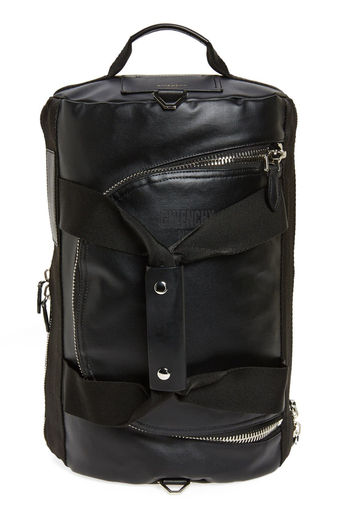 Coated Rubber Backpack, Main, color, 001