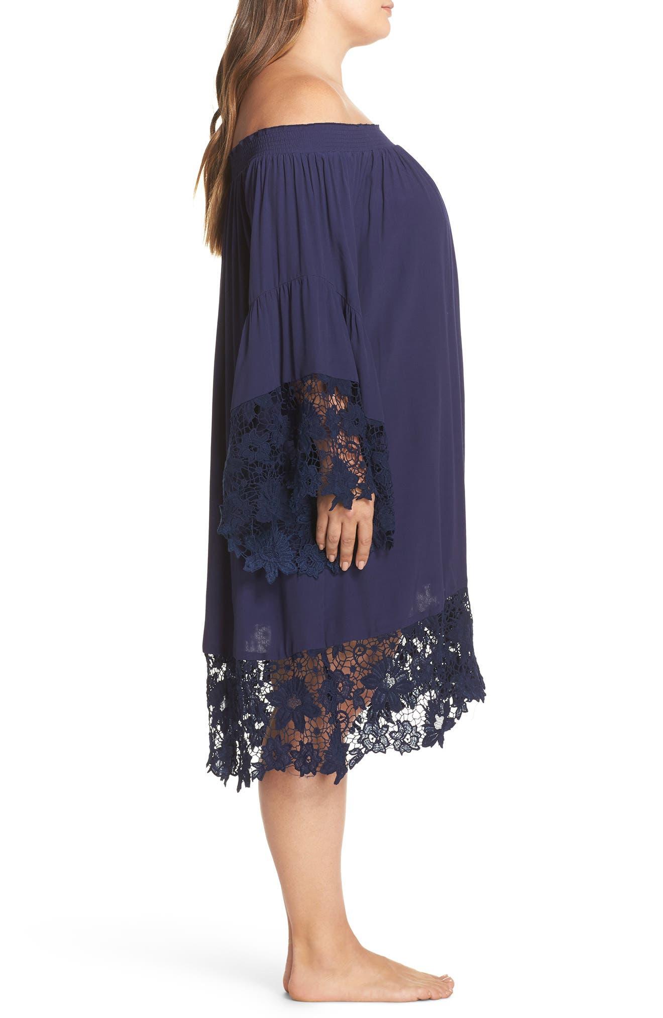 Jolie Lace Accent Cover-Up Dress,                             Alternate thumbnail 8, color,