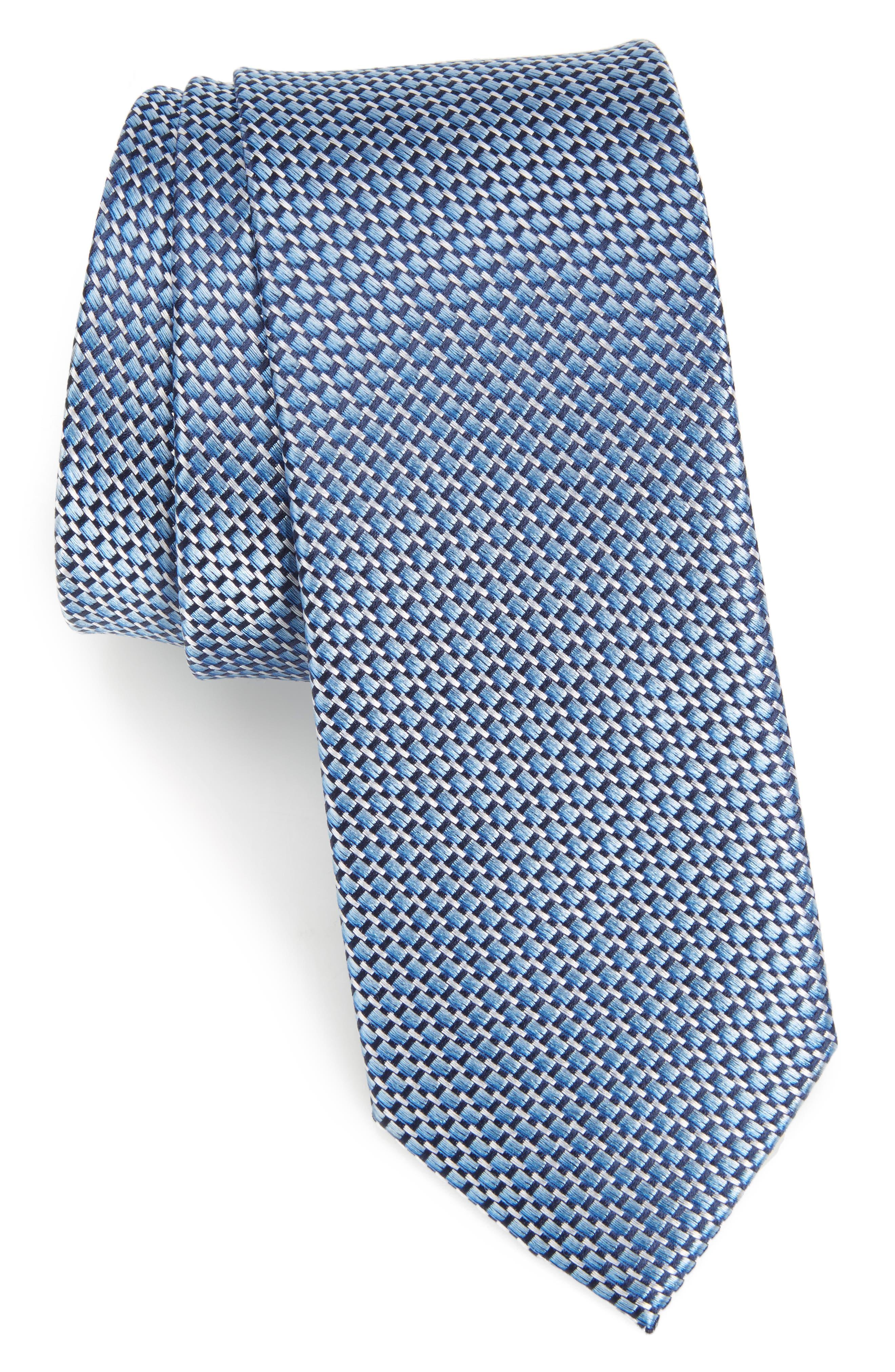 Iris Solid Silk Skinny Tie,                             Main thumbnail 2, color,
