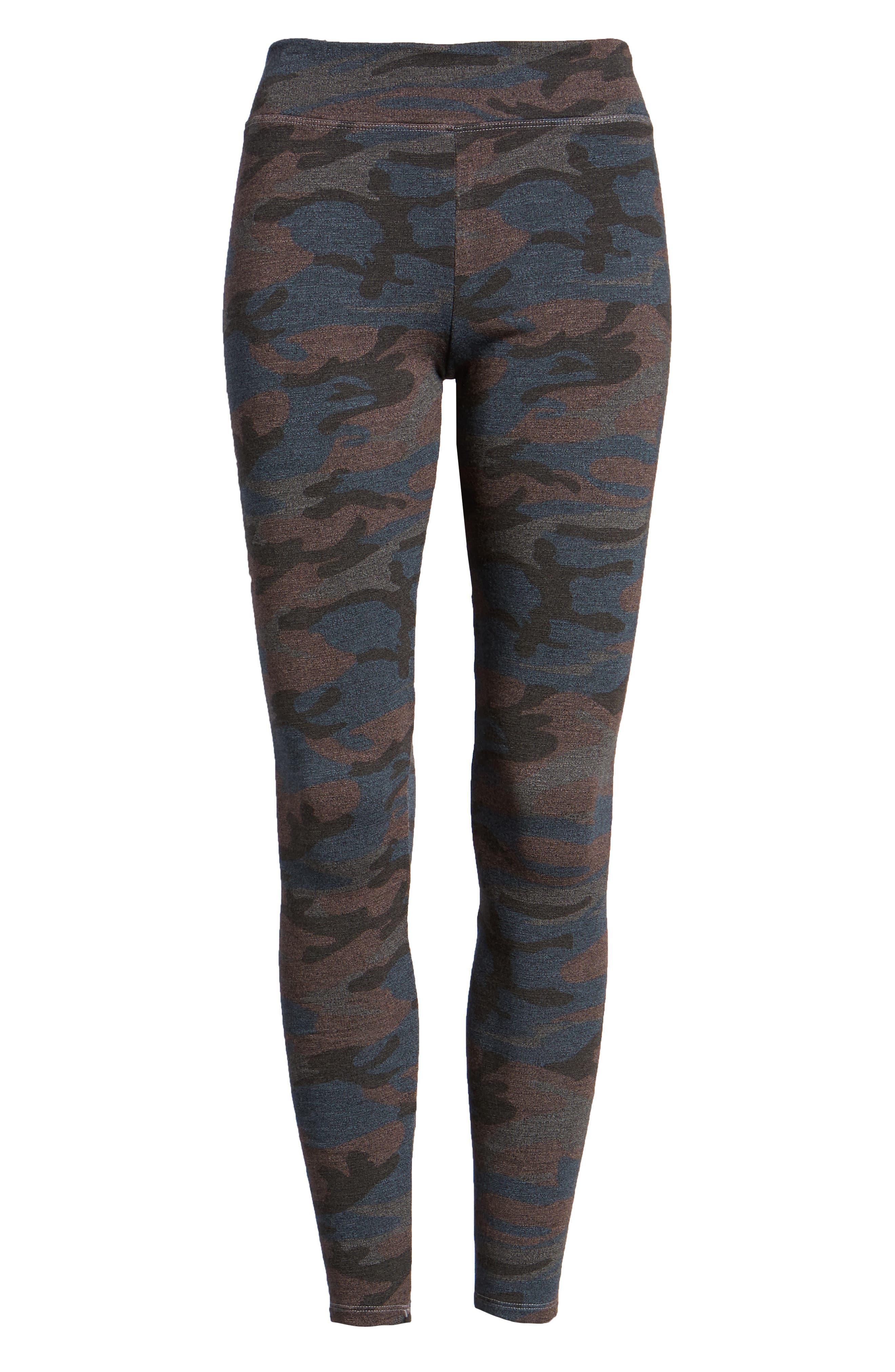SUNDRY,                             Camo Yoga Pants,                             Alternate thumbnail 6, color,                             020