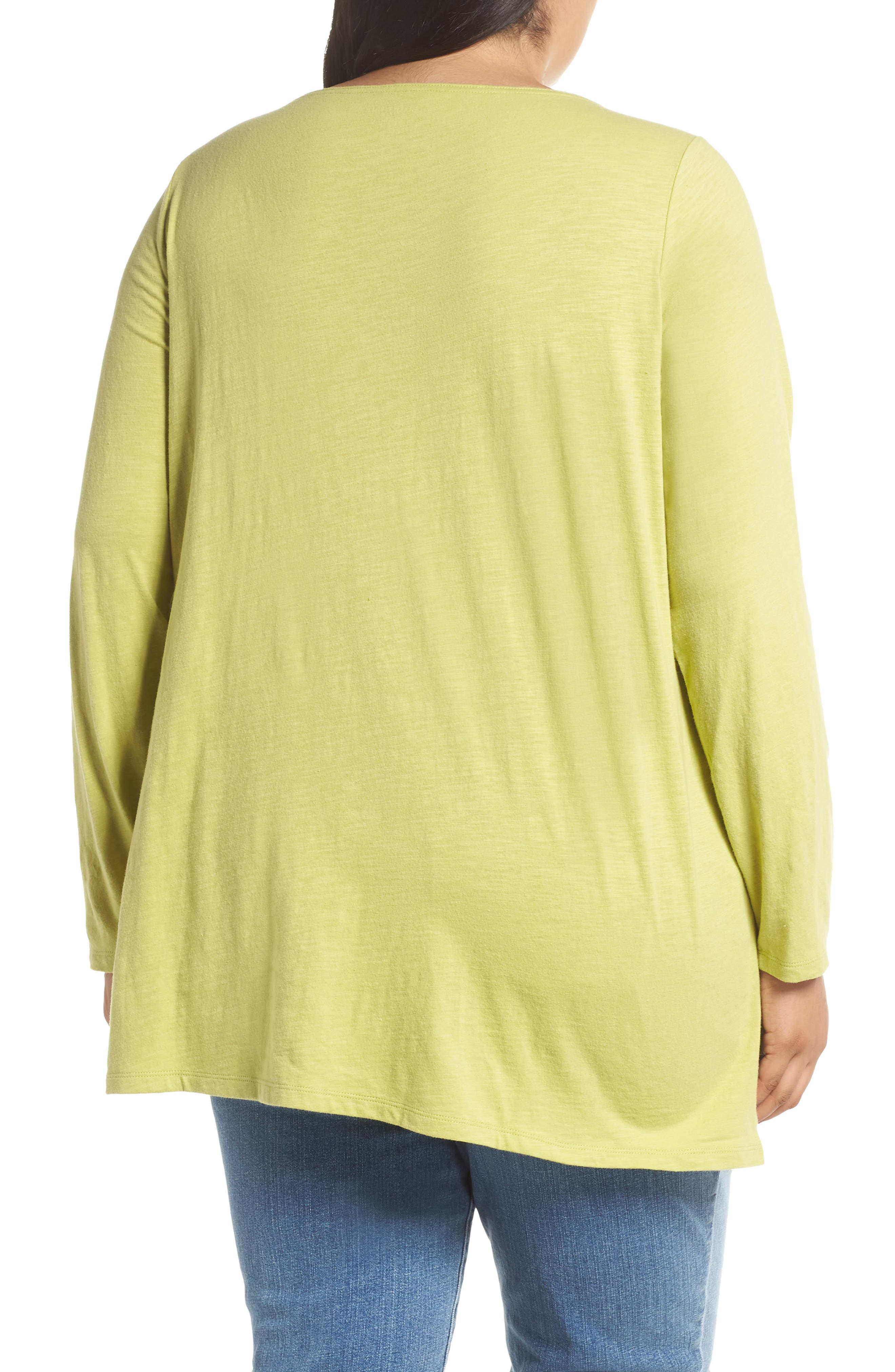 Organic Cotton Jersey Top,                             Alternate thumbnail 2, color,                             VERBENA