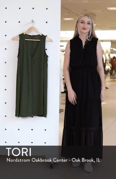 Heather Button Front Dress, sales video thumbnail
