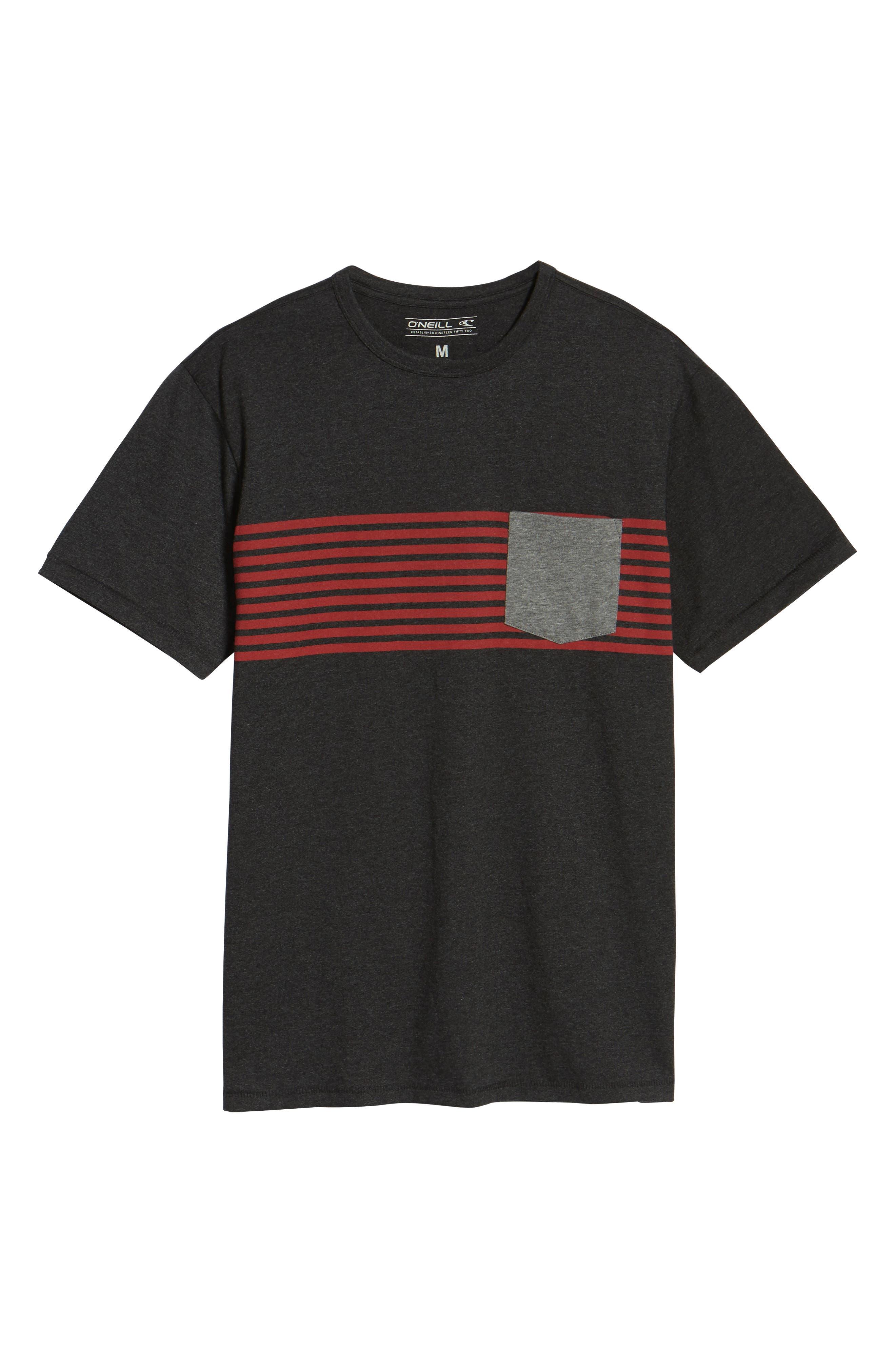 Rodgers Striped Pocket T-Shirt,                             Alternate thumbnail 6, color,                             001