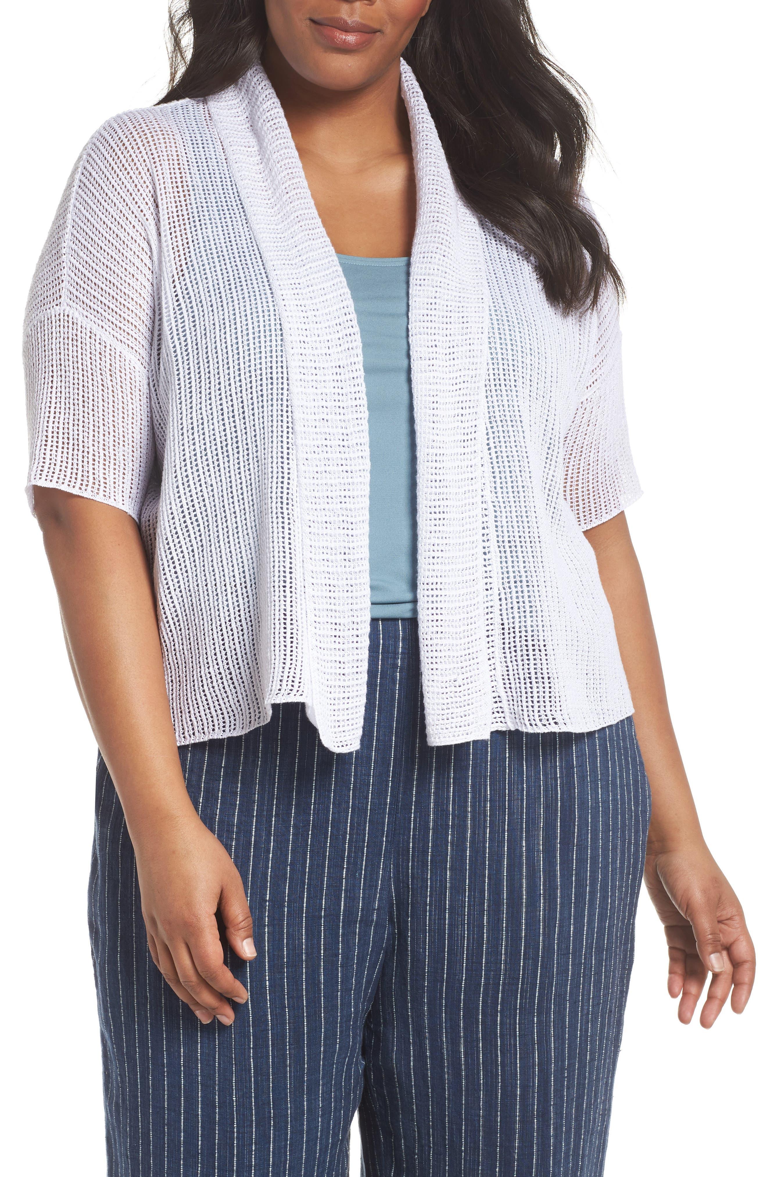 Boxy Organic Linen Cardigan,                         Main,                         color, 100