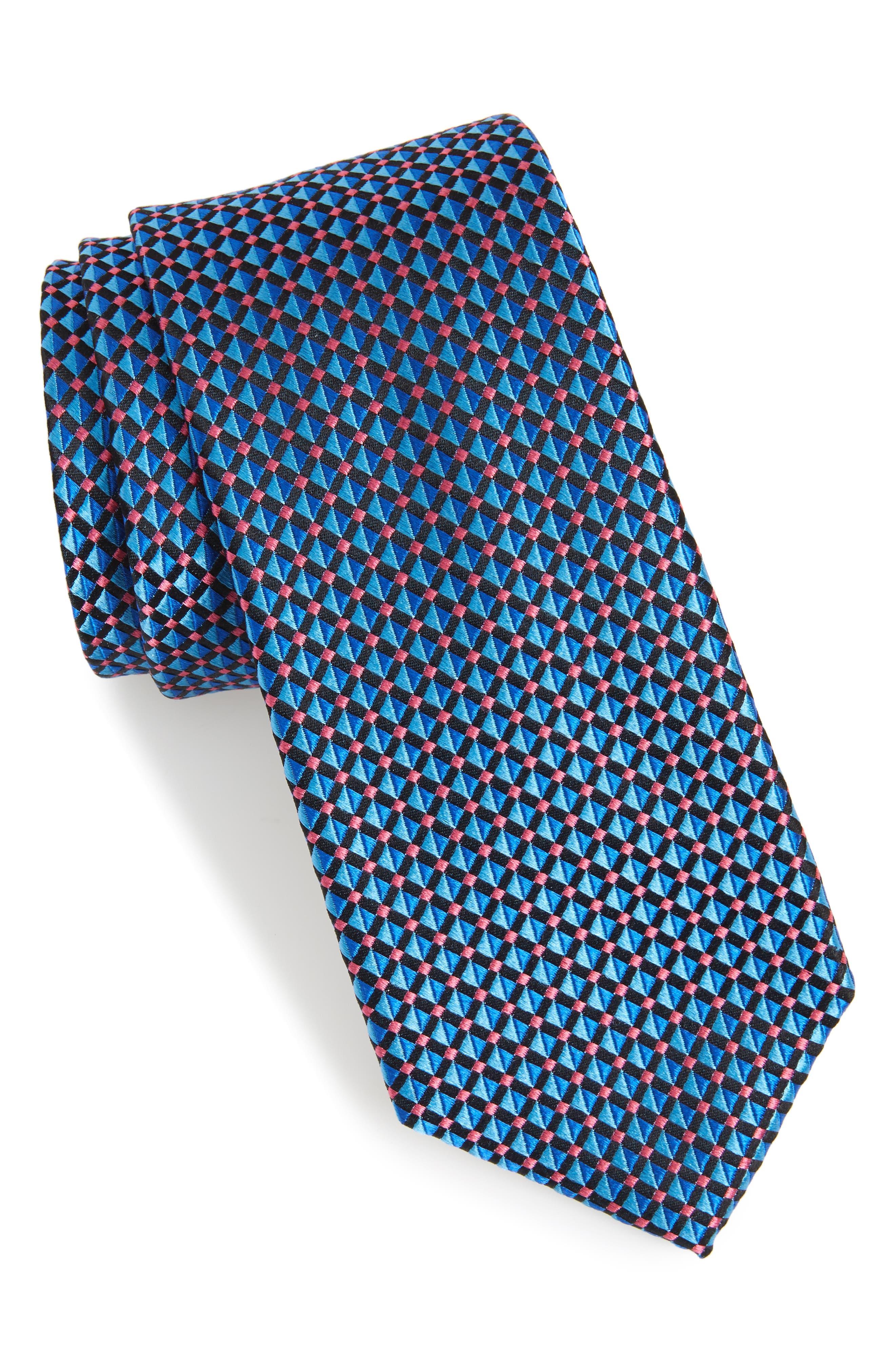 Geometric Silk Tie,                             Main thumbnail 1, color,                             411