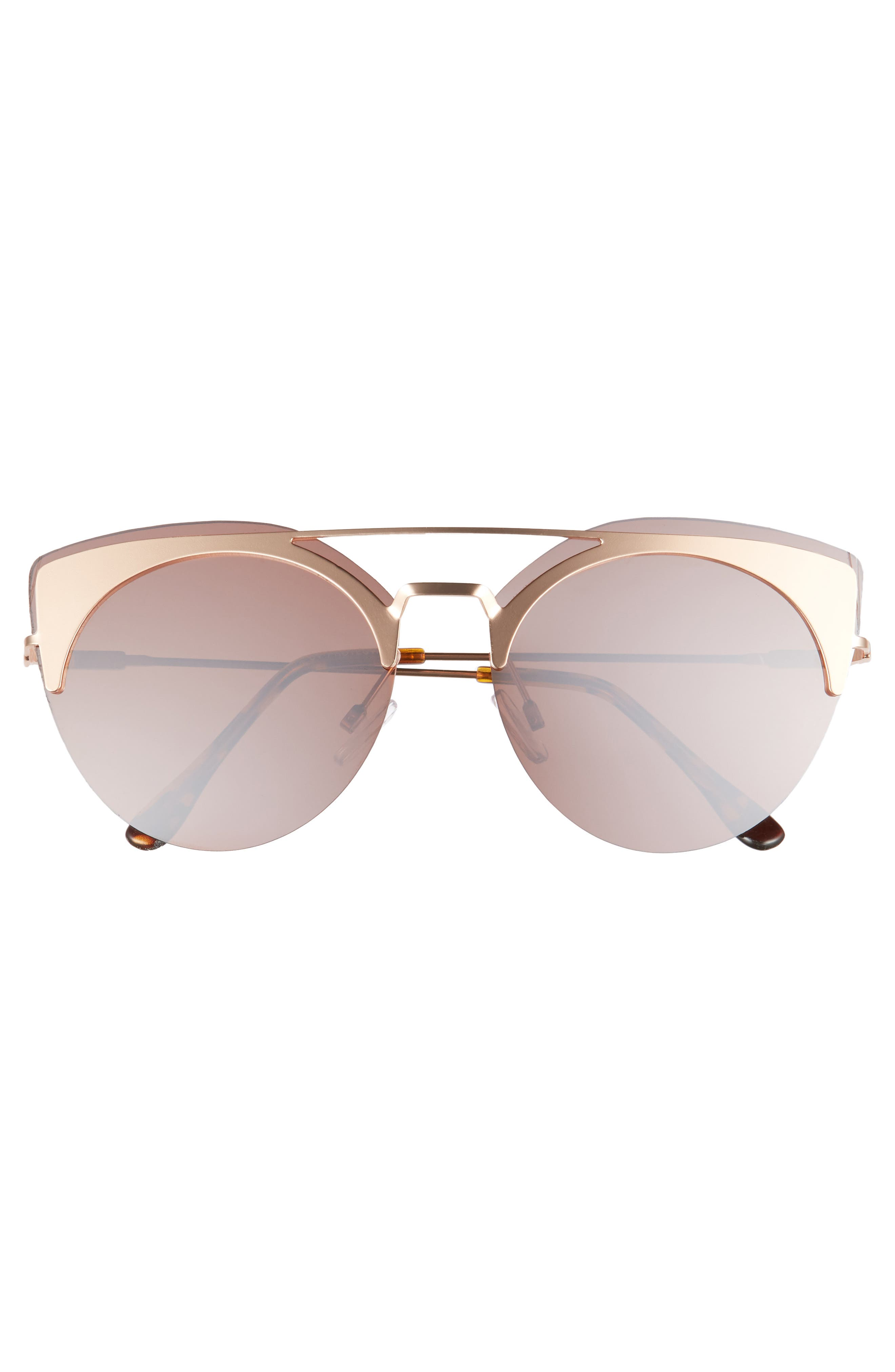 54mm Round Sunglasses,                             Alternate thumbnail 3, color,                             710