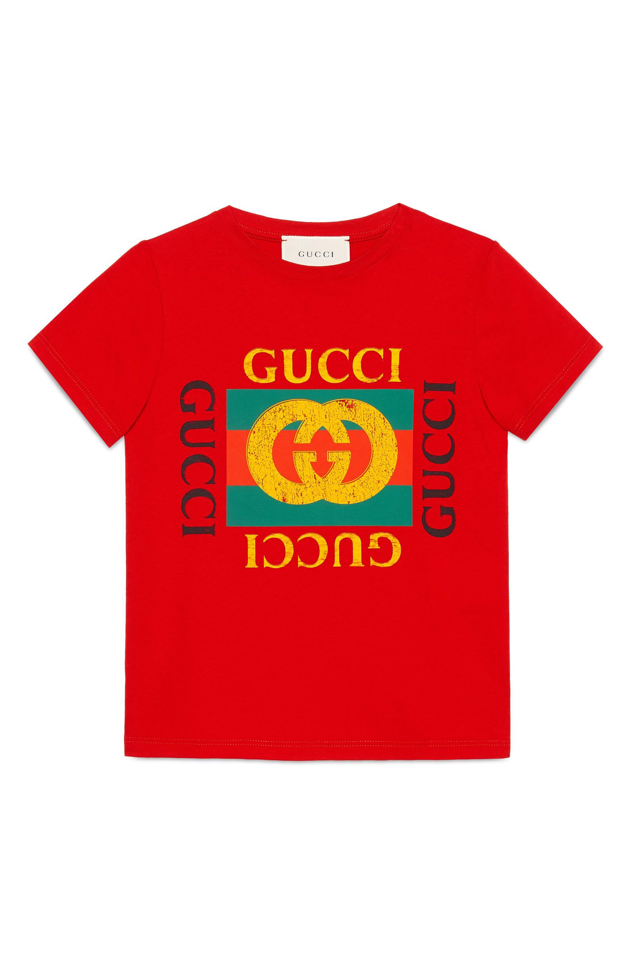 Boys Gucci Logo Graphic TShirt Size 10Y  Red