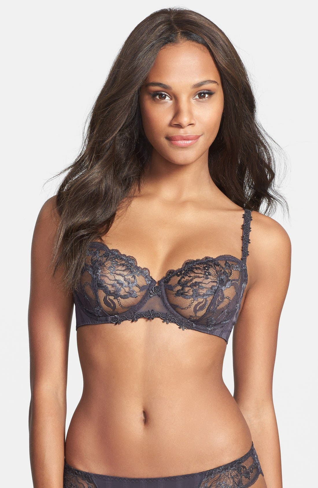 'Amour' Underwire Demi Bra,                             Main thumbnail 2, color,