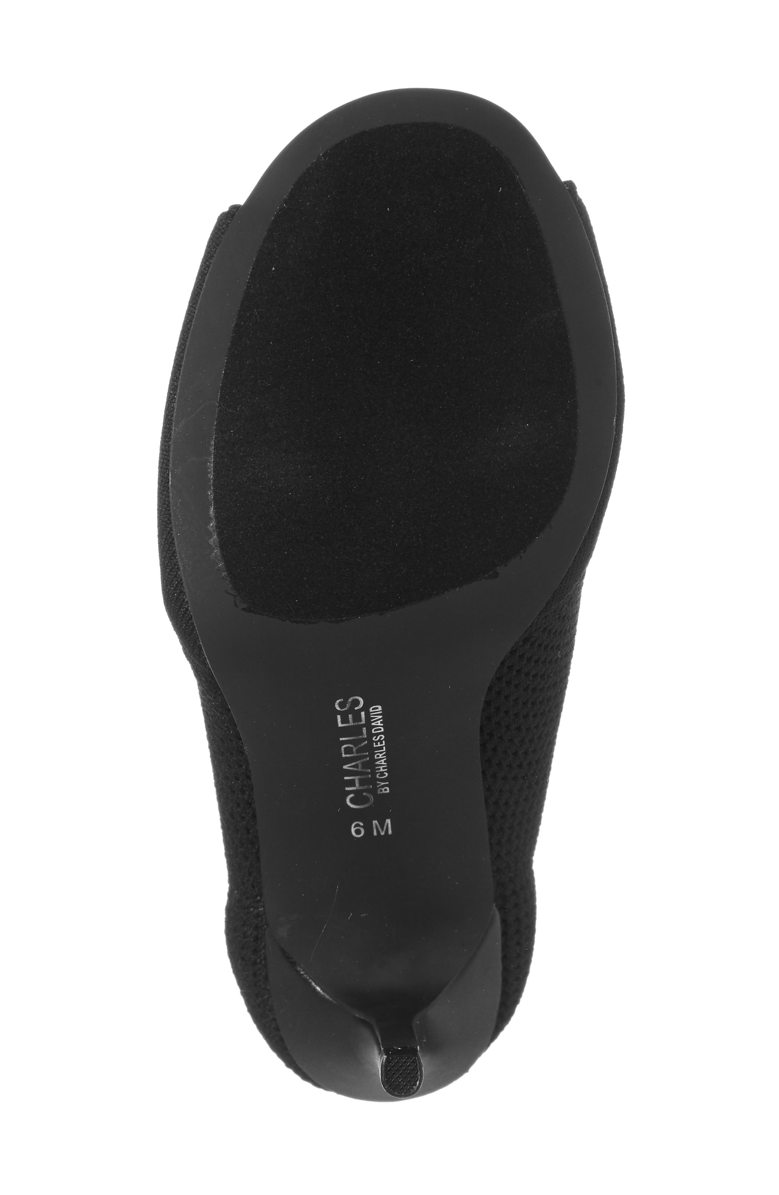 CHARLES BY CHARLES DAVID,                             Rebellious Knit Peep Toe Bootie,                             Alternate thumbnail 4, color,                             001