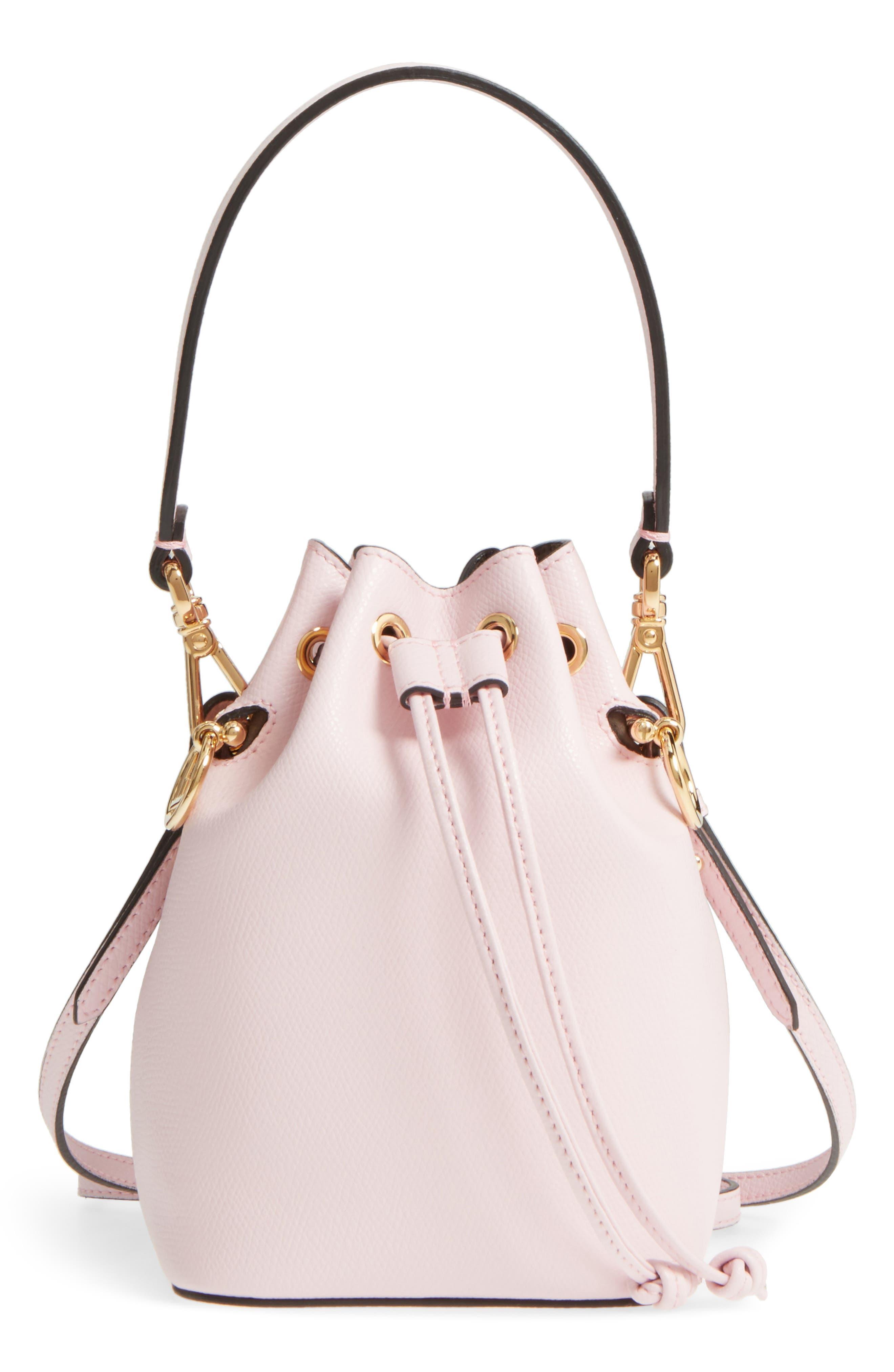 Mini Leather Bucket Bag,                             Main thumbnail 2, color,