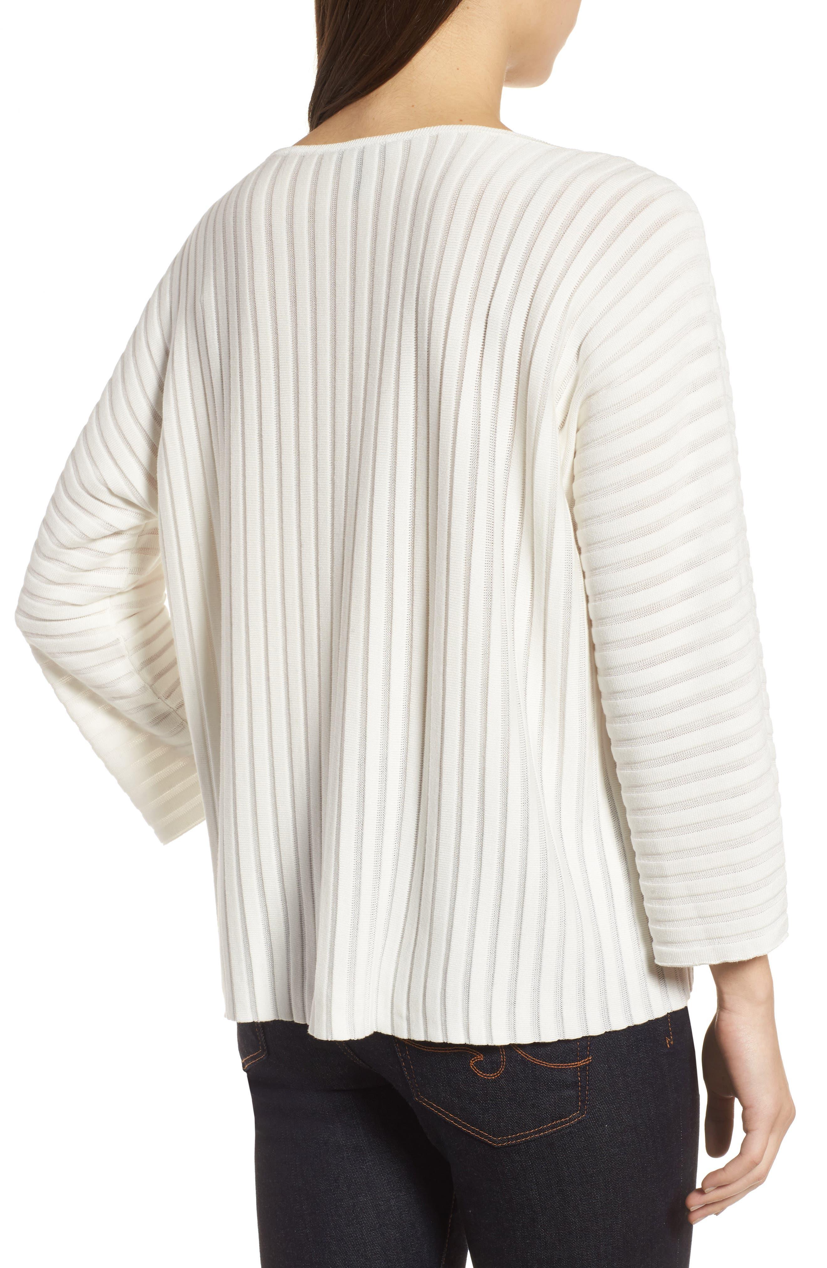 Ribbed Bateau Neck Sweater,                             Alternate thumbnail 6, color,