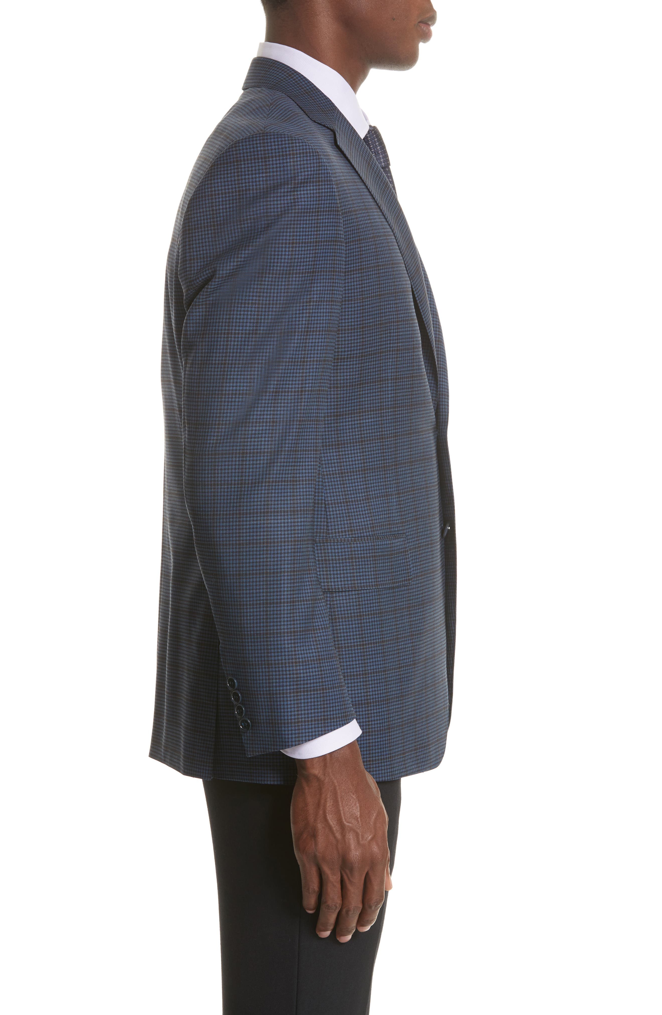 Classic Fit Check Wool Sport Coat,                             Alternate thumbnail 3, color,                             410