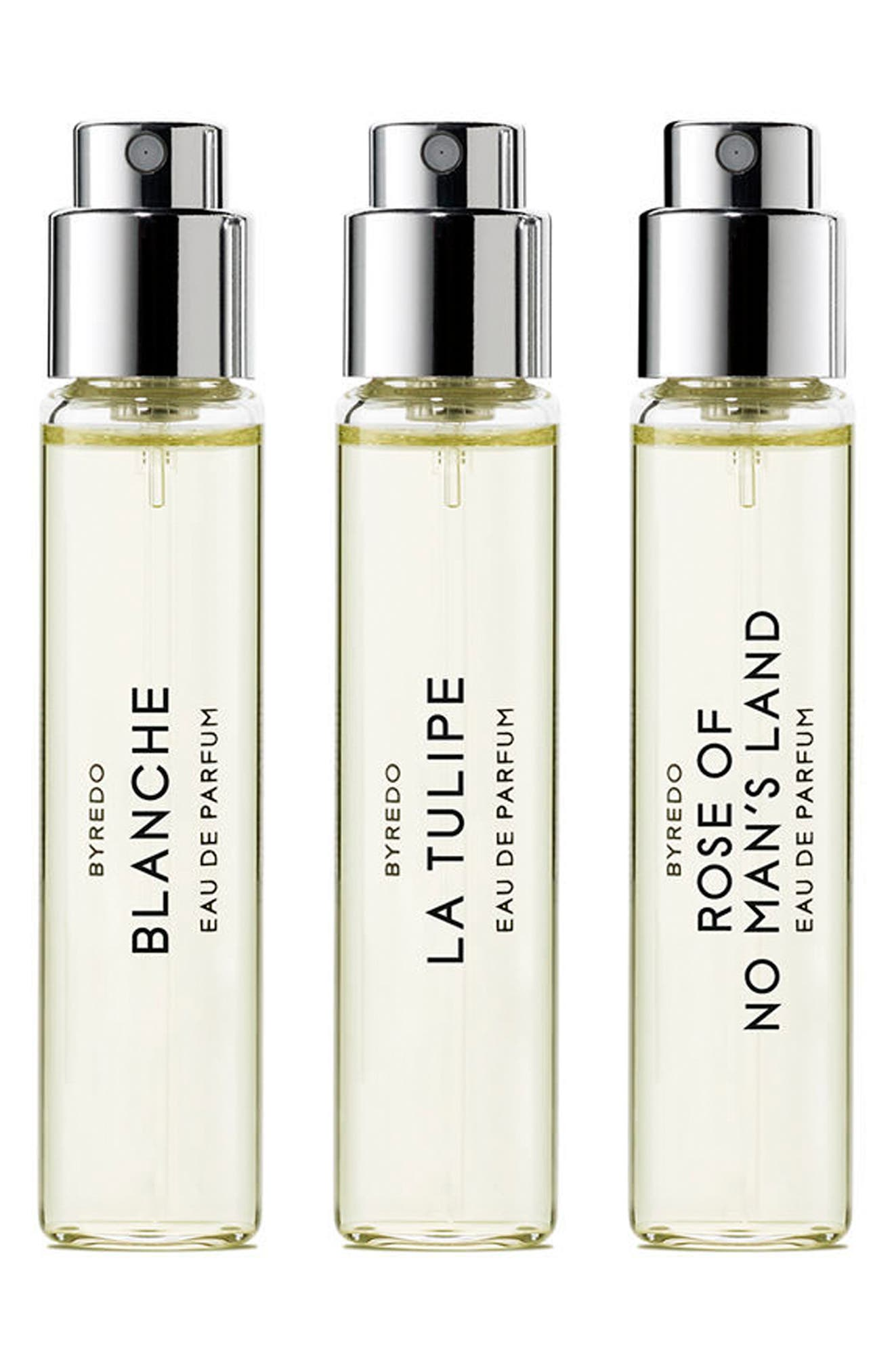 BYREDO,                             La Sélection Florale Travel Spray Trio,                             Main thumbnail 1, color,                             NO COLOR