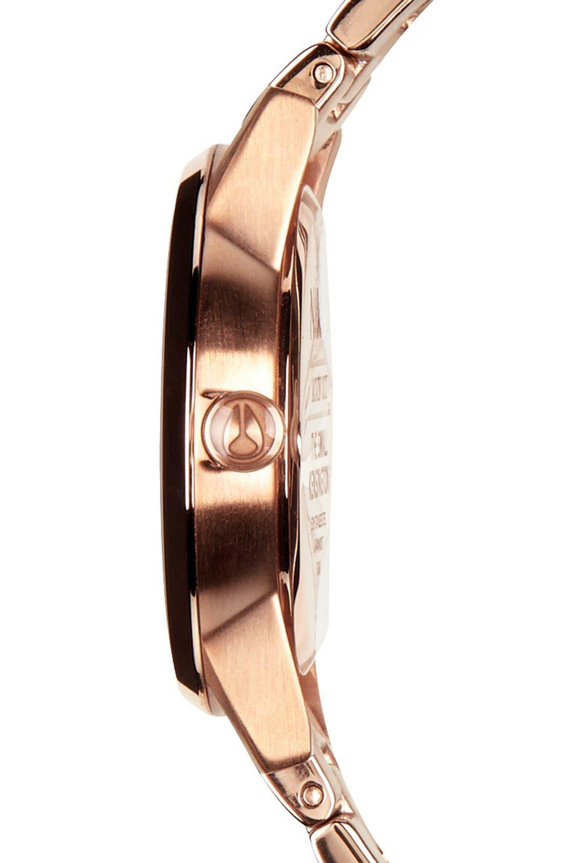 'The Small Kensington' Bracelet Watch, 30mm,                             Alternate thumbnail 3, color,                             ROSE GOLD