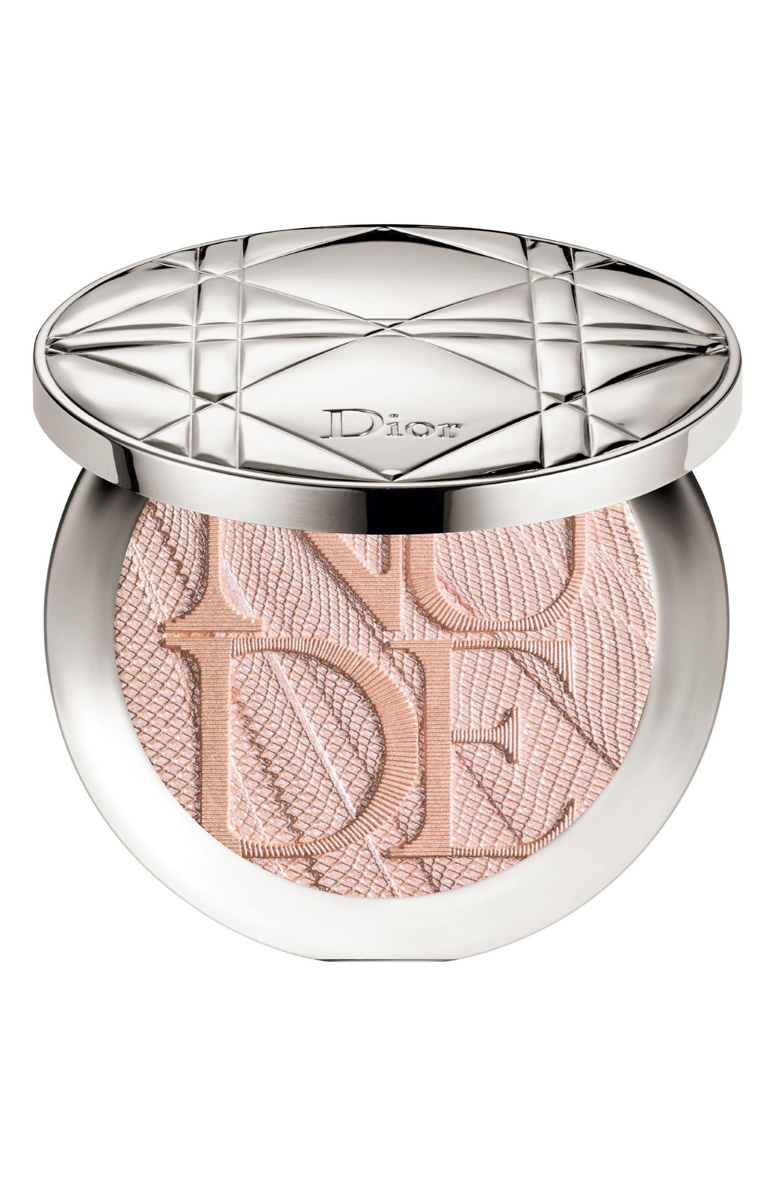 Diorskin Nude Air Luminizer Glow Addict Holographic Sculpting Powder,                         Main,                         color, 001 HOLO PINK