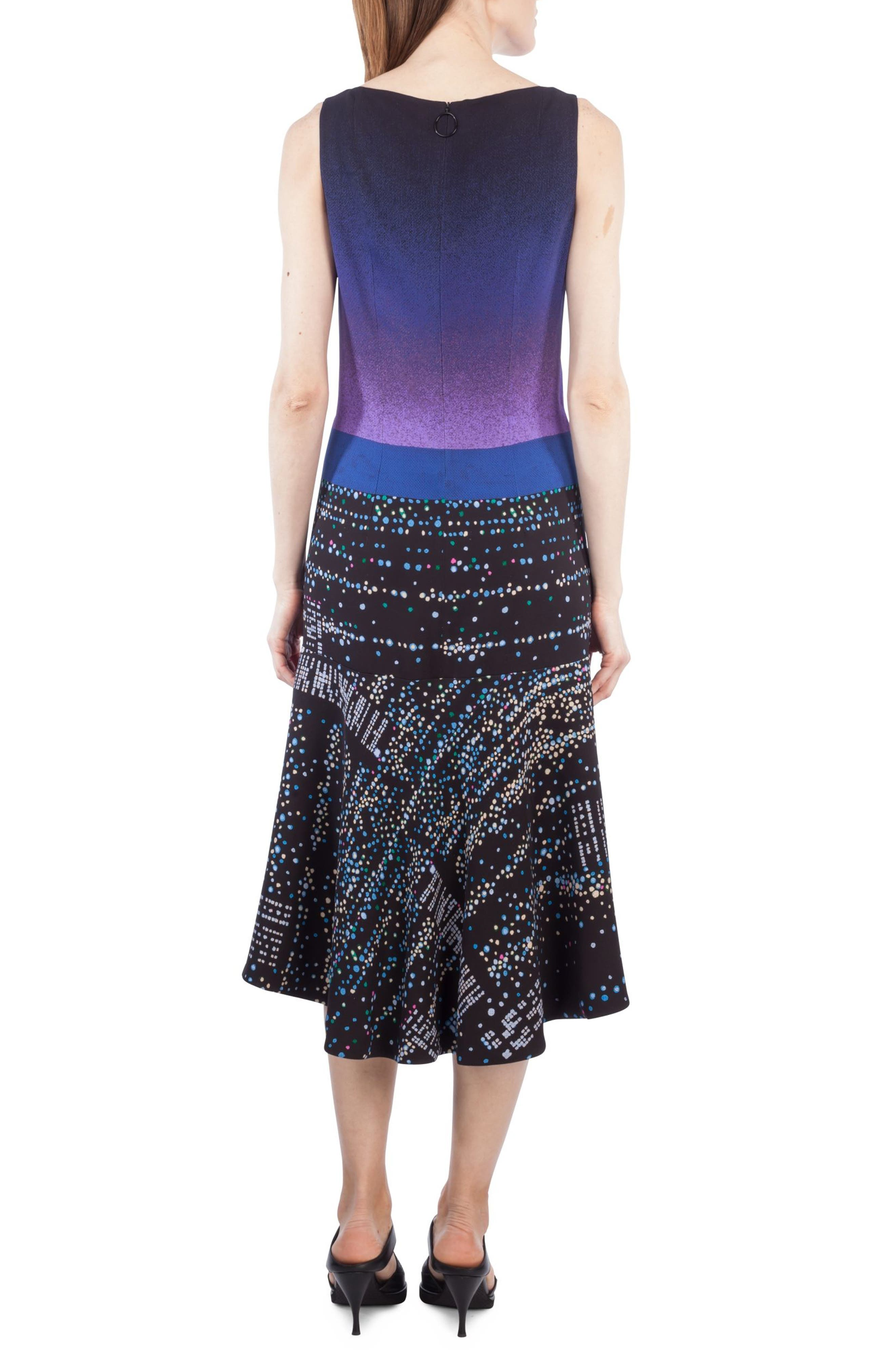 Twilight Print Midi Dress,                             Alternate thumbnail 2, color,                             500