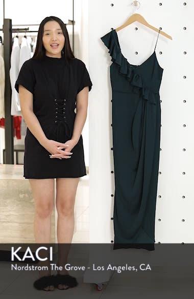 Luxe Asymmetrical Frill Maxi Dress, sales video thumbnail