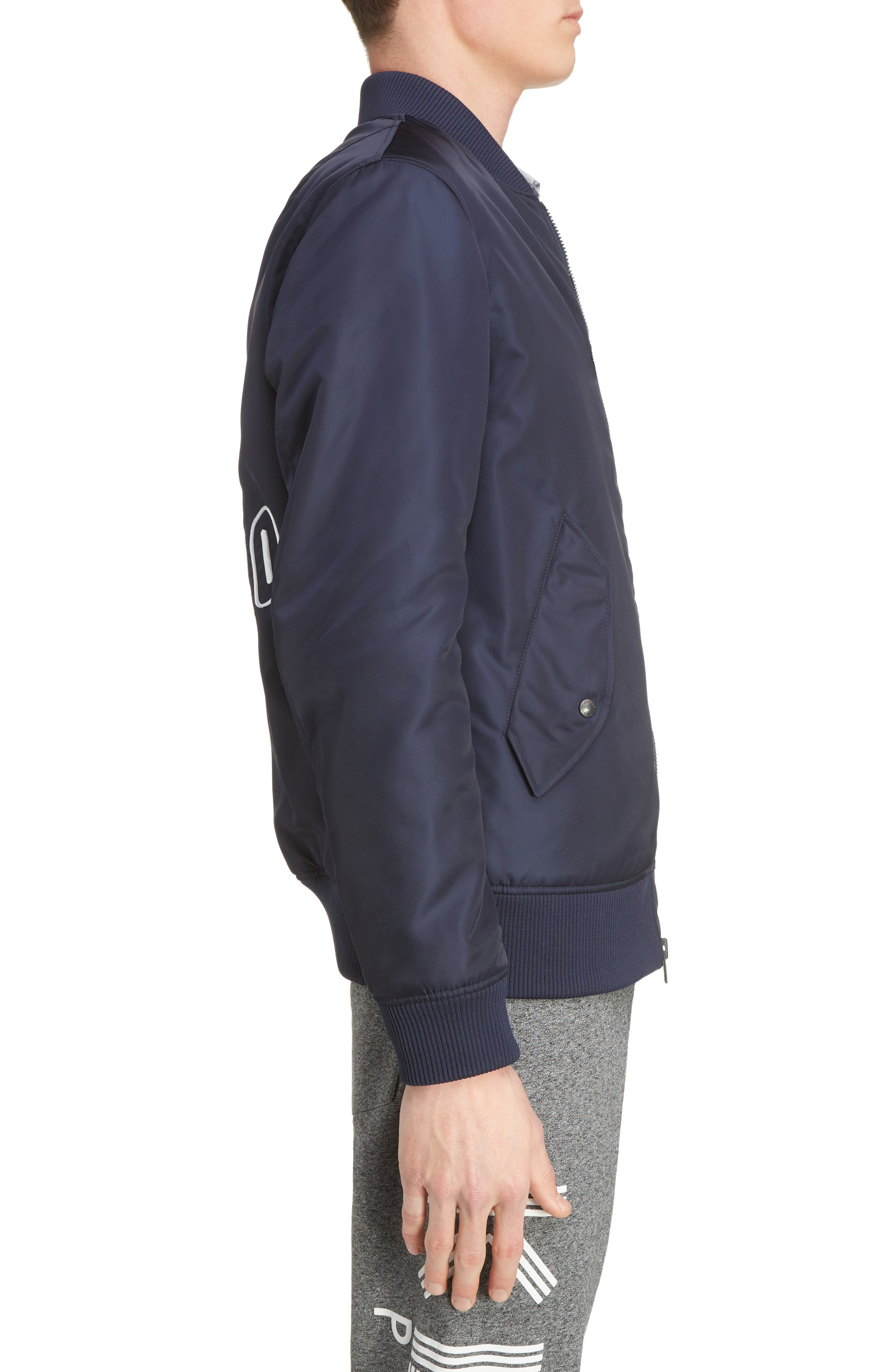 Embroidered Bomber Jacket,                             Alternate thumbnail 3, color,                             402