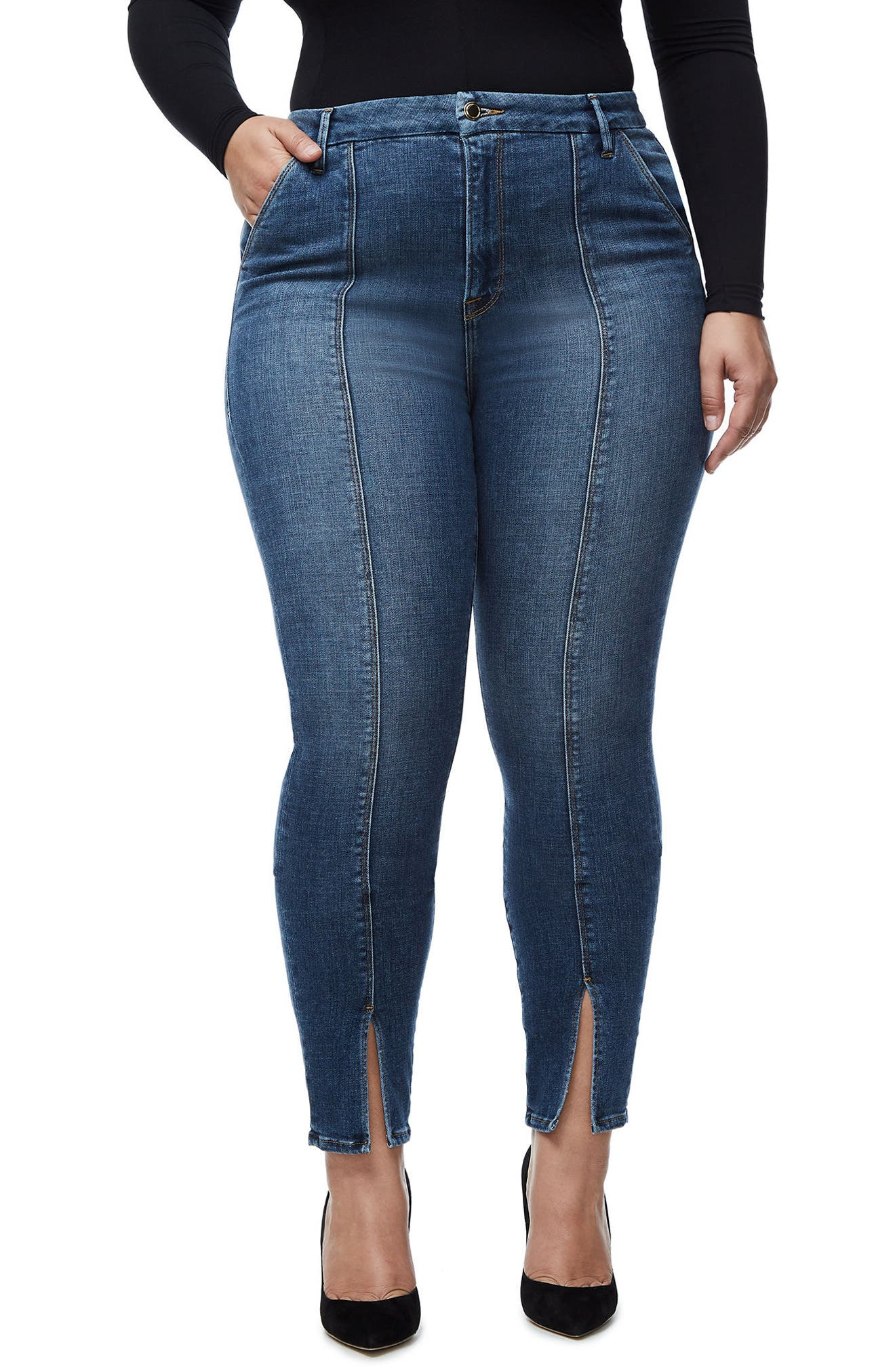 Good Waist Trouser Pocket High Waist Skinny Jeans,                         Main,                         color,