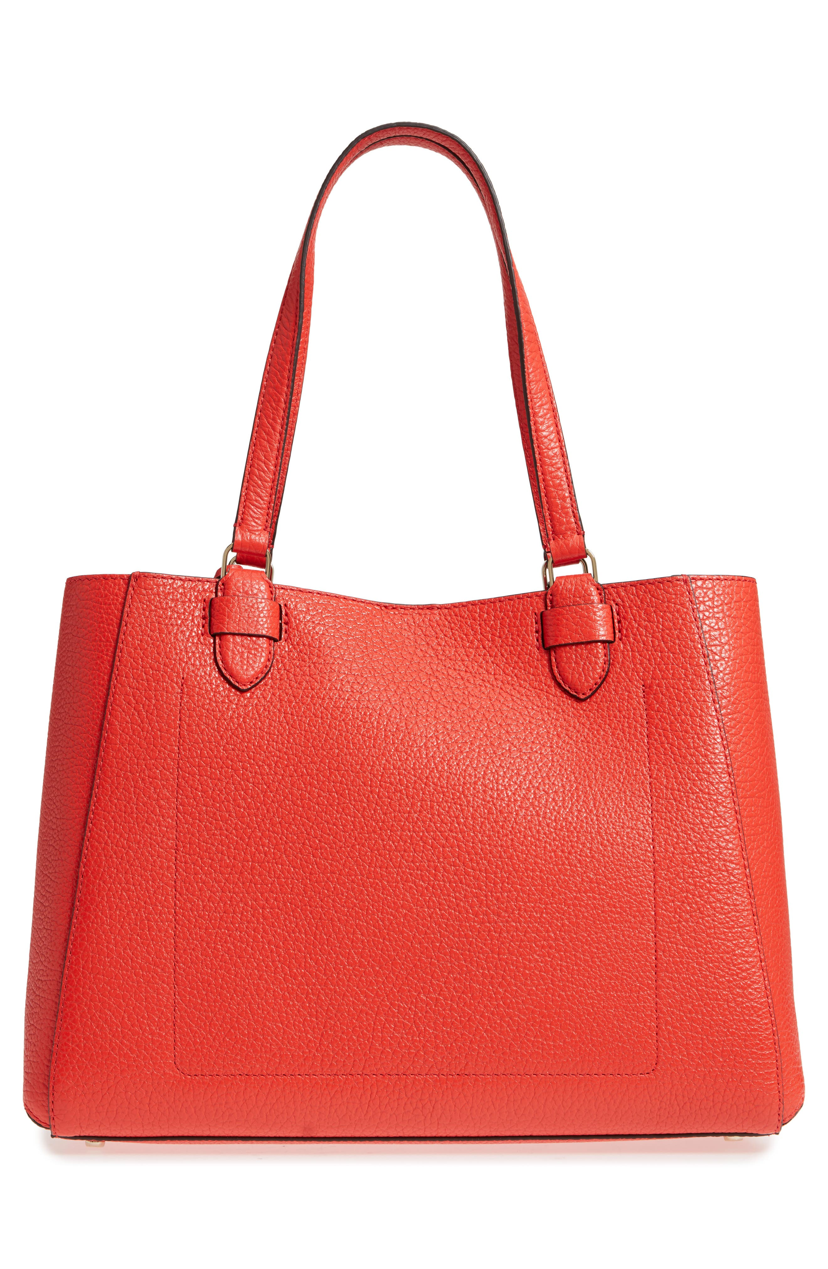 carter street - tyler leather tote,                             Alternate thumbnail 12, color,
