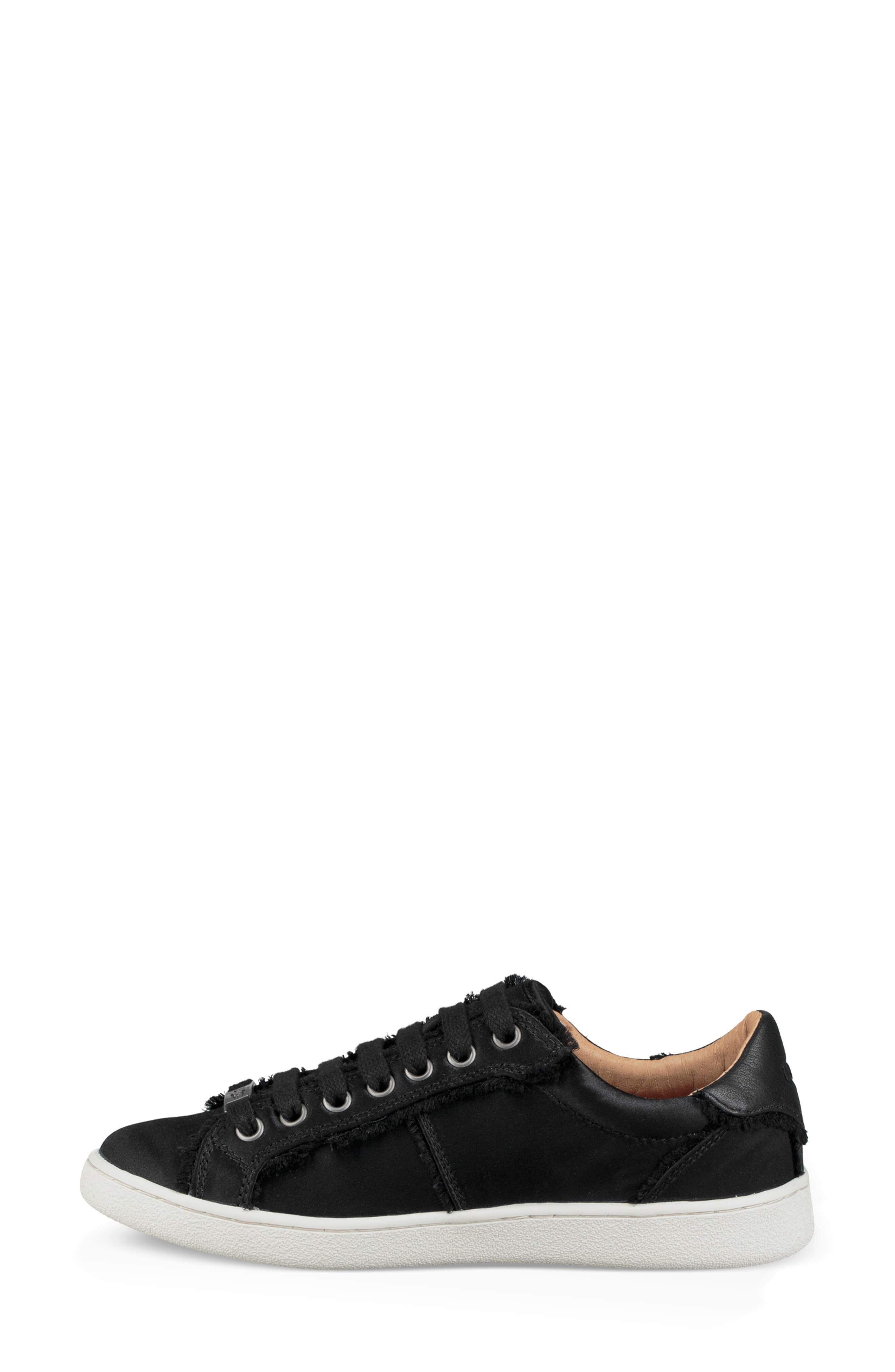 Milo Spill Seam Sneaker,                             Alternate thumbnail 6, color,                             BLACK FABRIC
