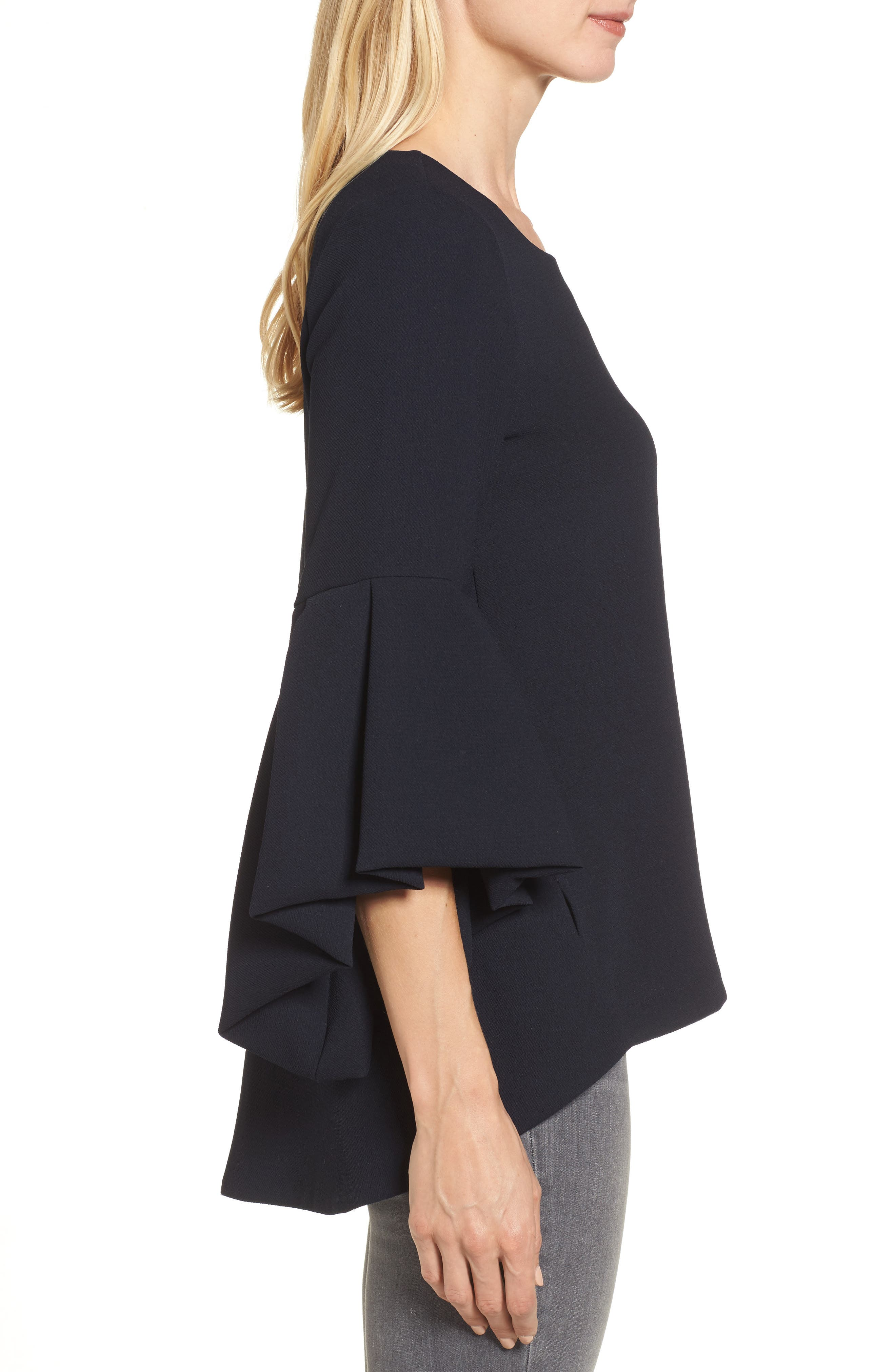 Bell Sleeve High/Low Top,                             Alternate thumbnail 3, color,                             410