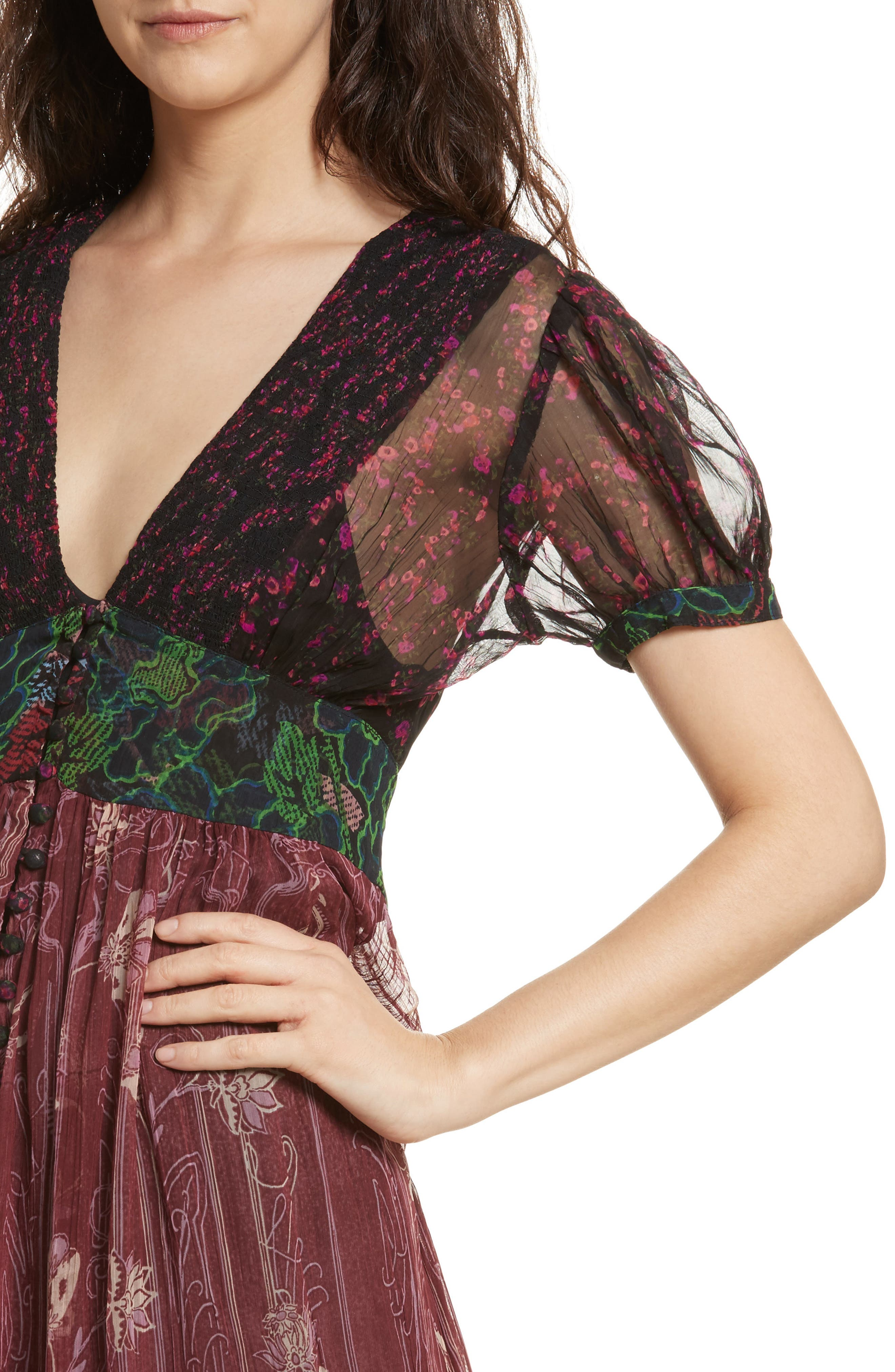Daisy Fields Maxi Top,                             Alternate thumbnail 4, color,                             001