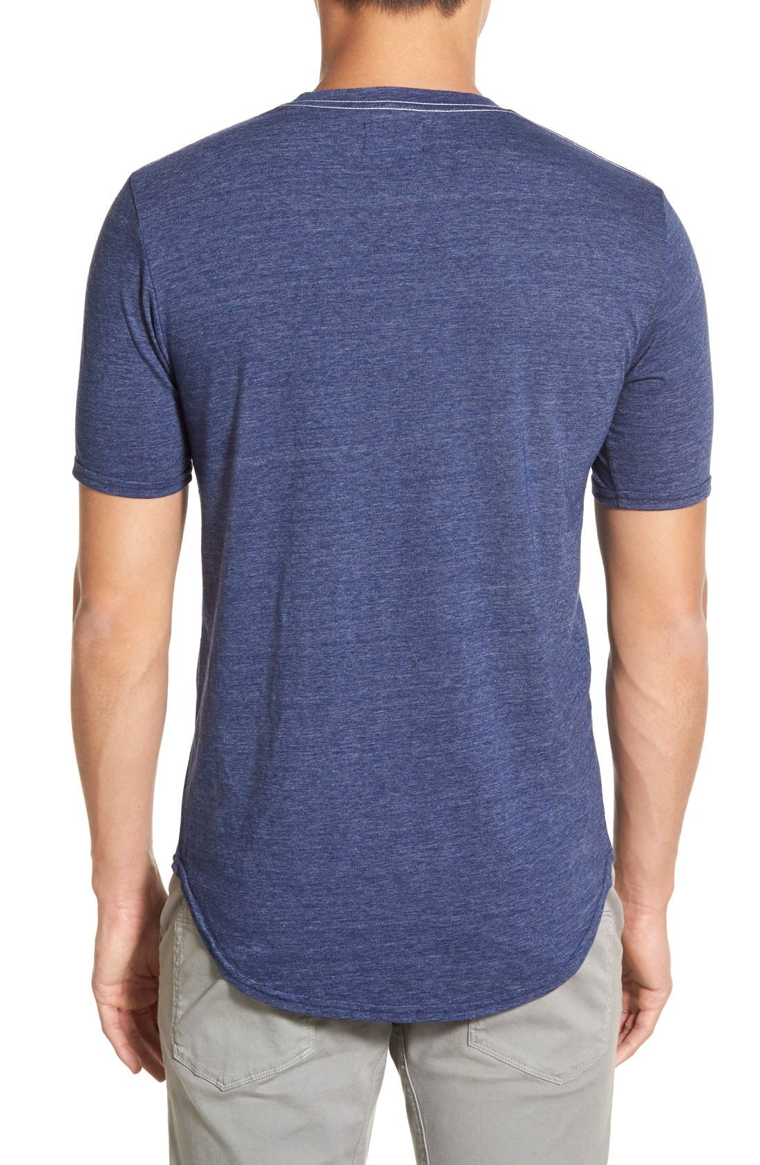 Scallop Triblend Crewneck T-Shirt,                             Alternate thumbnail 87, color,