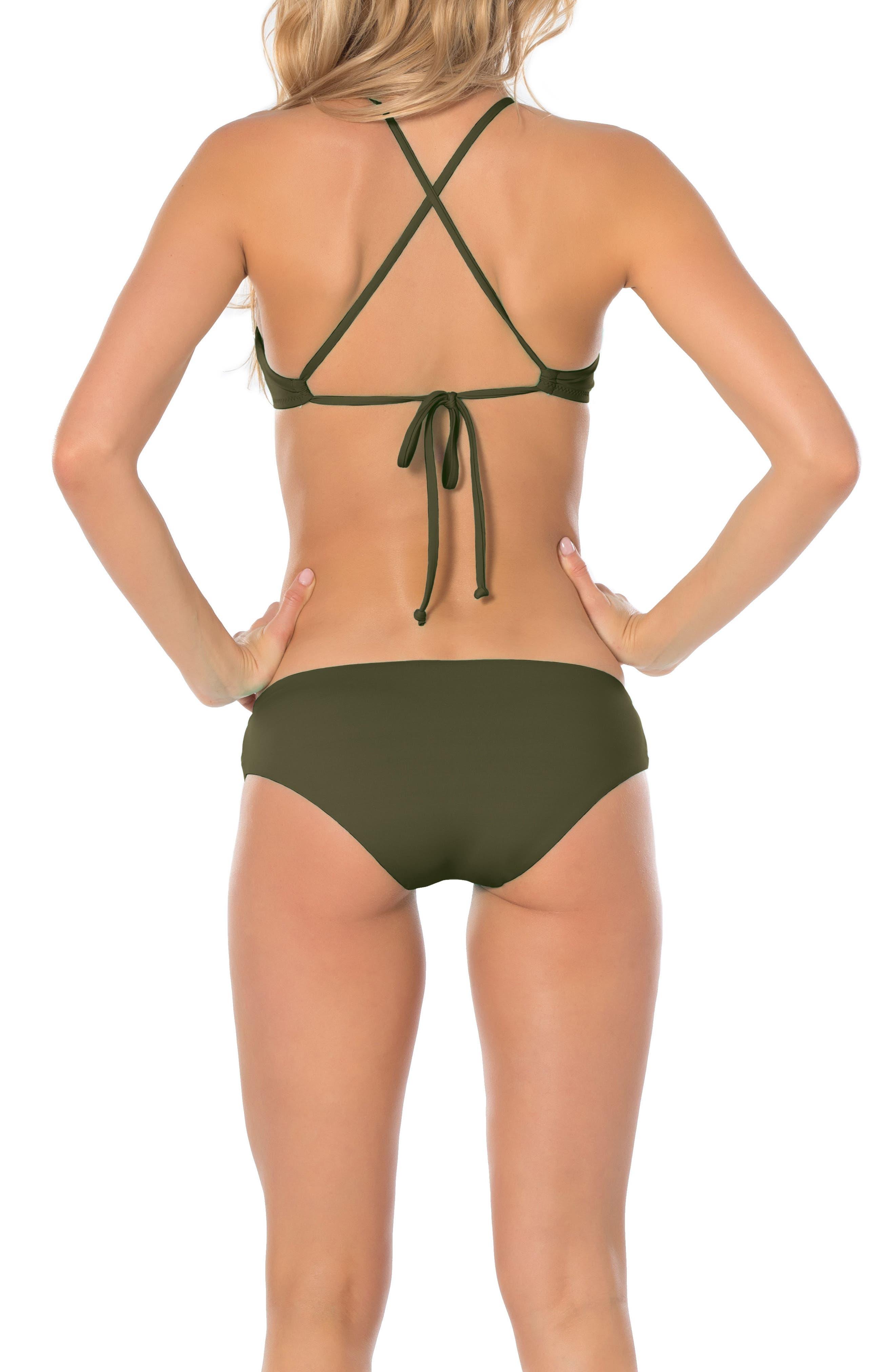 Color Code Halter Bikini Top,                             Alternate thumbnail 4, color,                             308