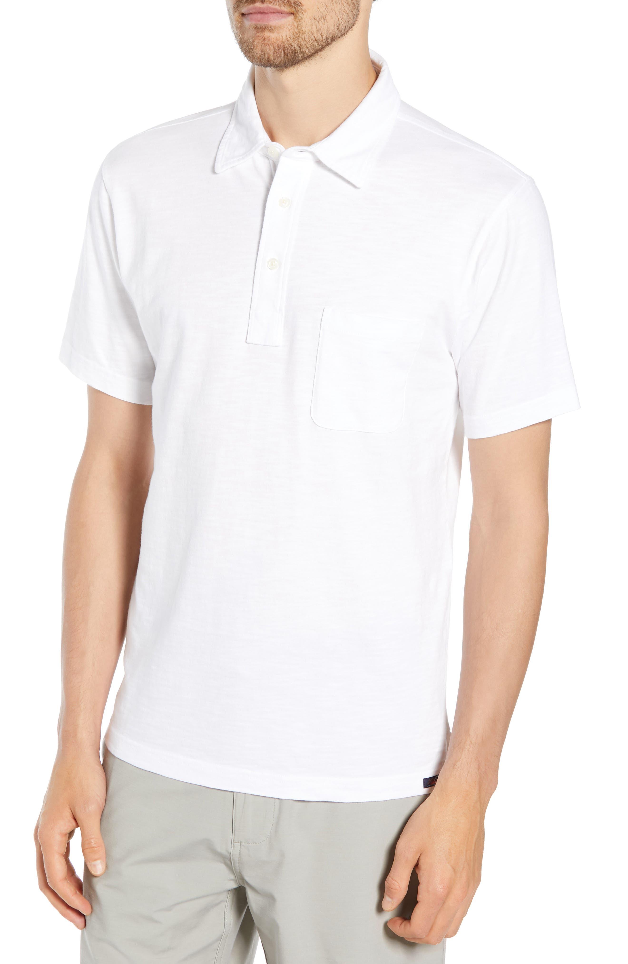 Sunwashed Polo,                         Main,                         color, WHITE