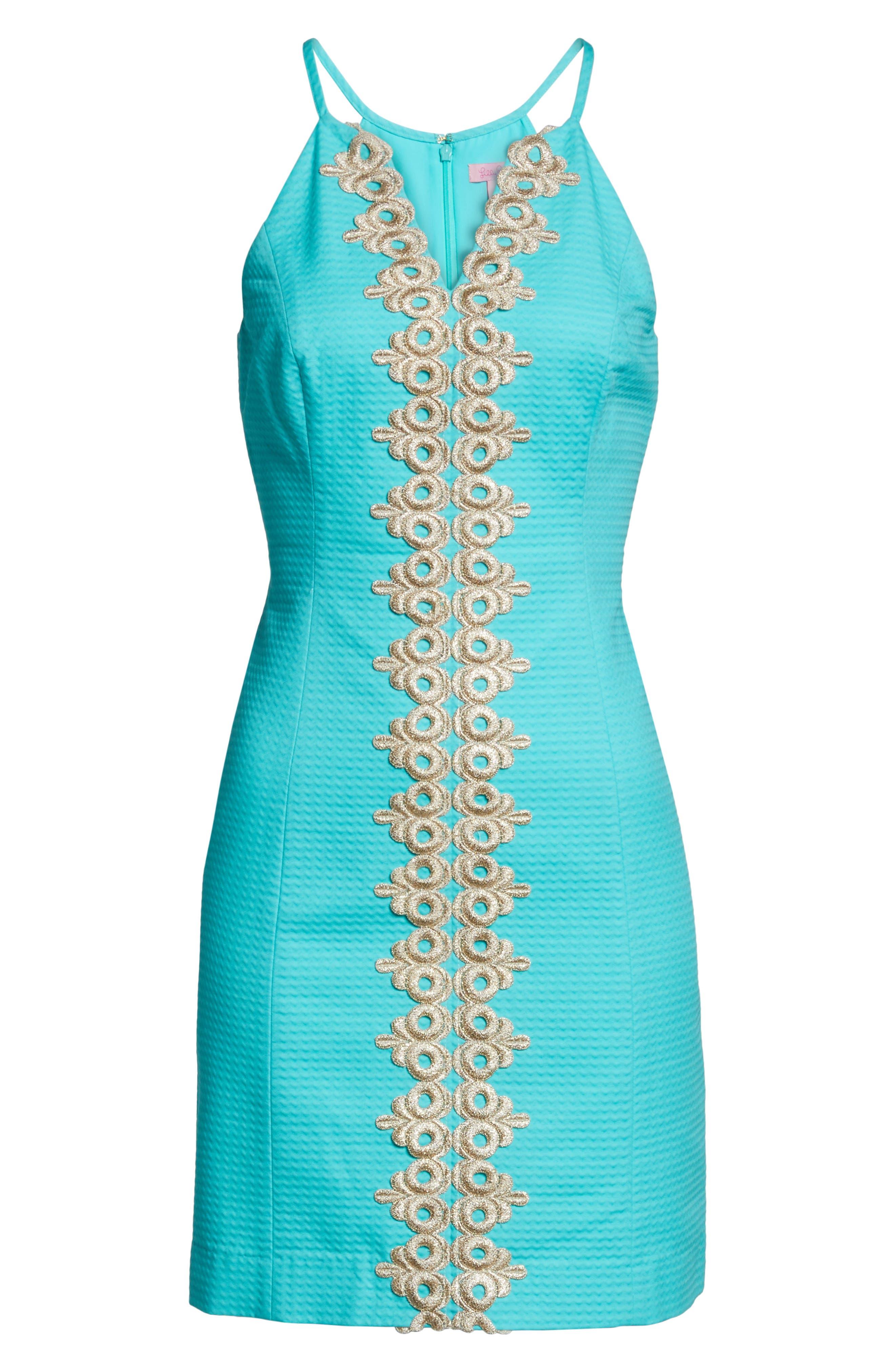 Pearl Sheath Dress,                             Alternate thumbnail 6, color,                             436