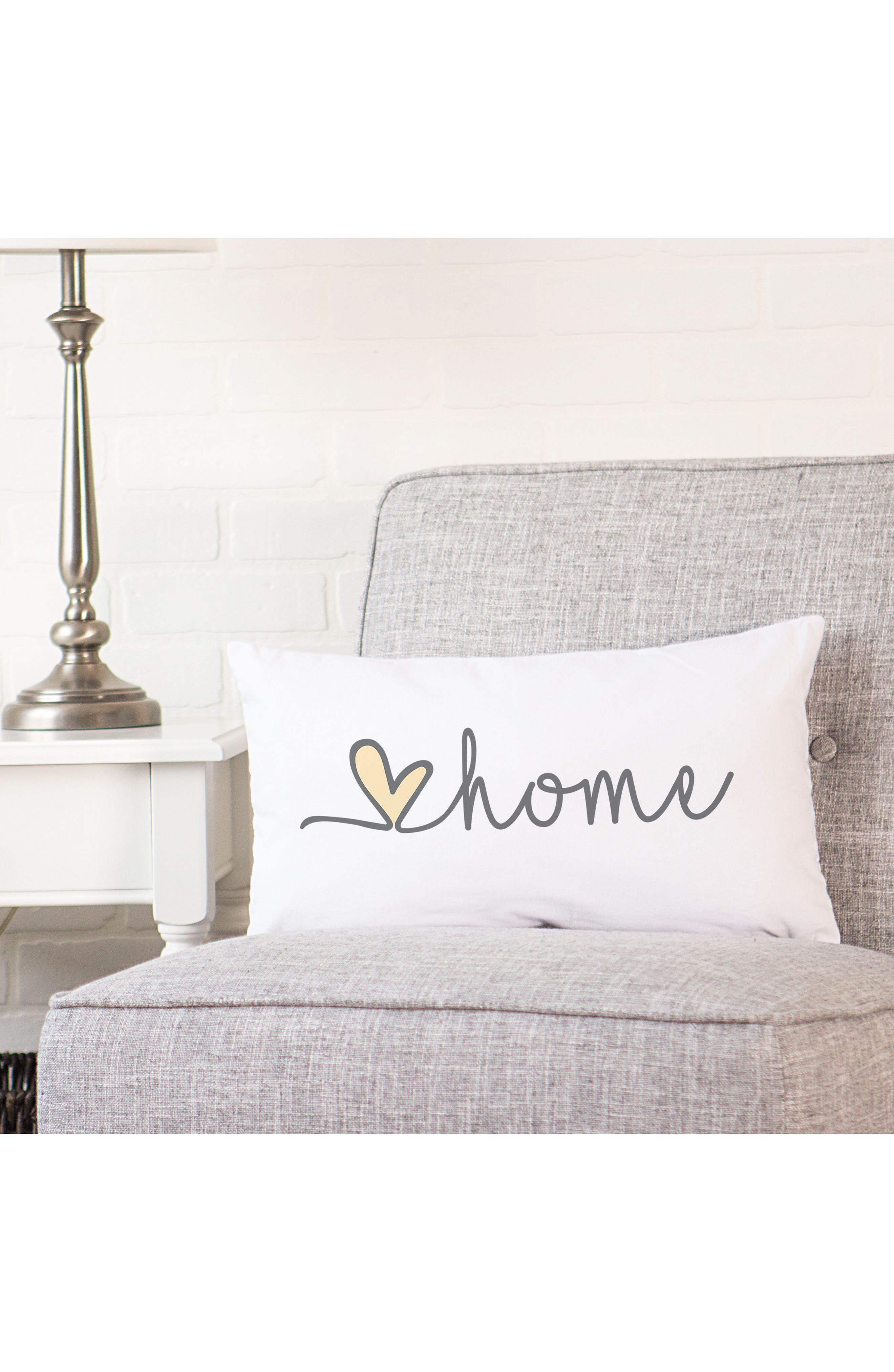 Love Home Lumbar Accent Pillow,                             Alternate thumbnail 6, color,                             GREY