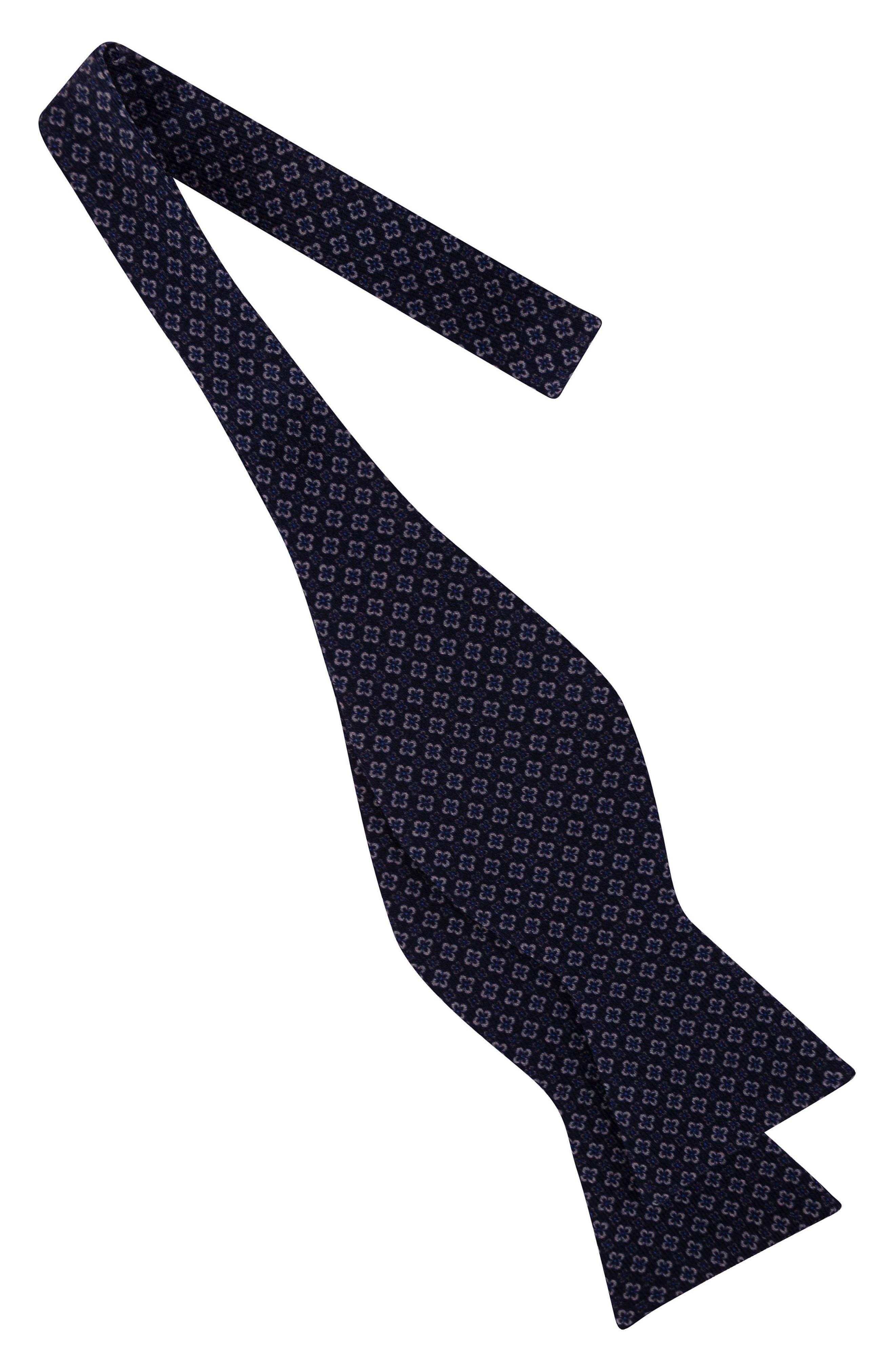Dazzling Geometric Silk Bow Tie,                             Alternate thumbnail 3, color,