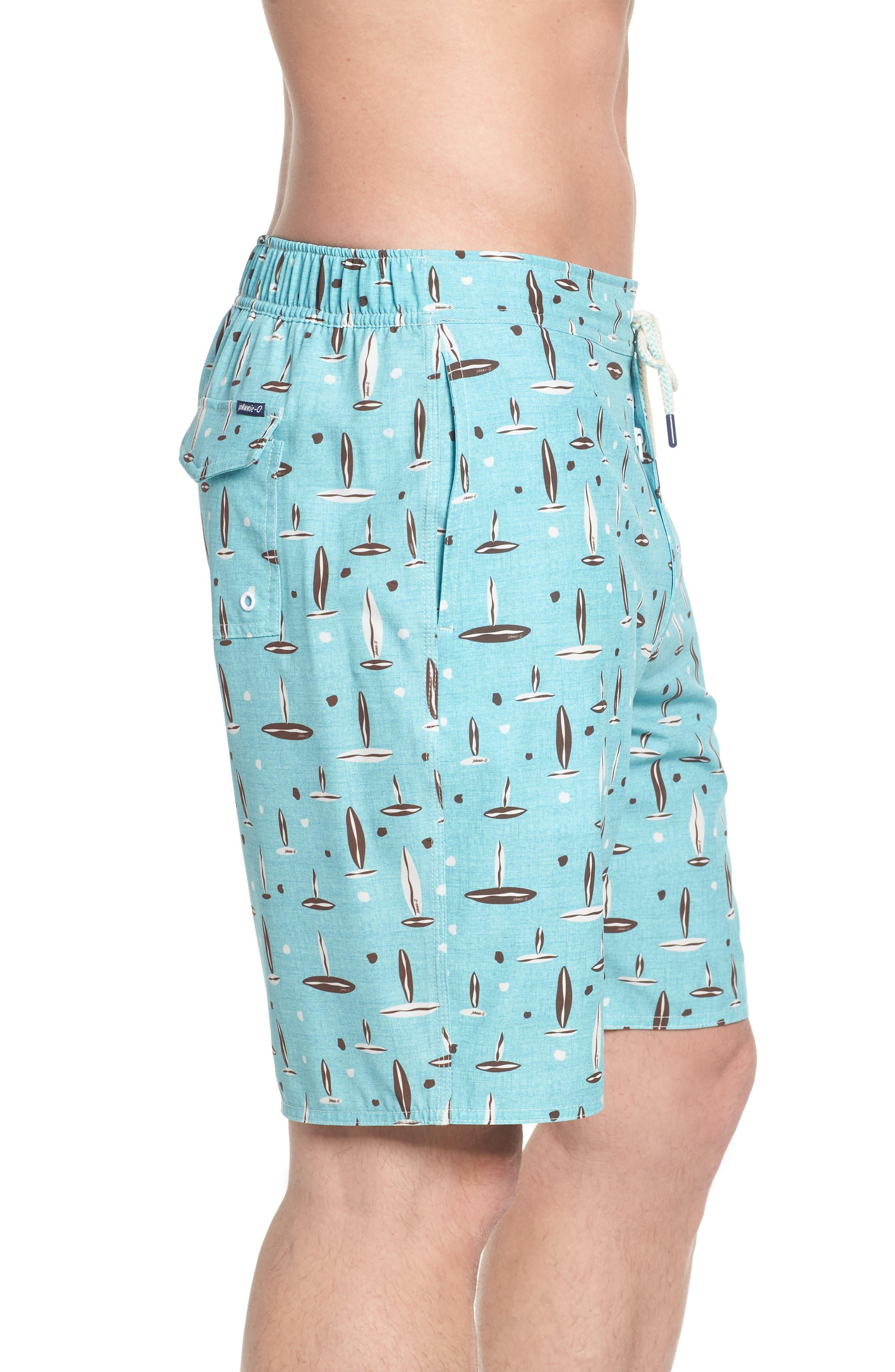 Rowan Regular Fit Board Shorts,                             Alternate thumbnail 3, color,                             SURF