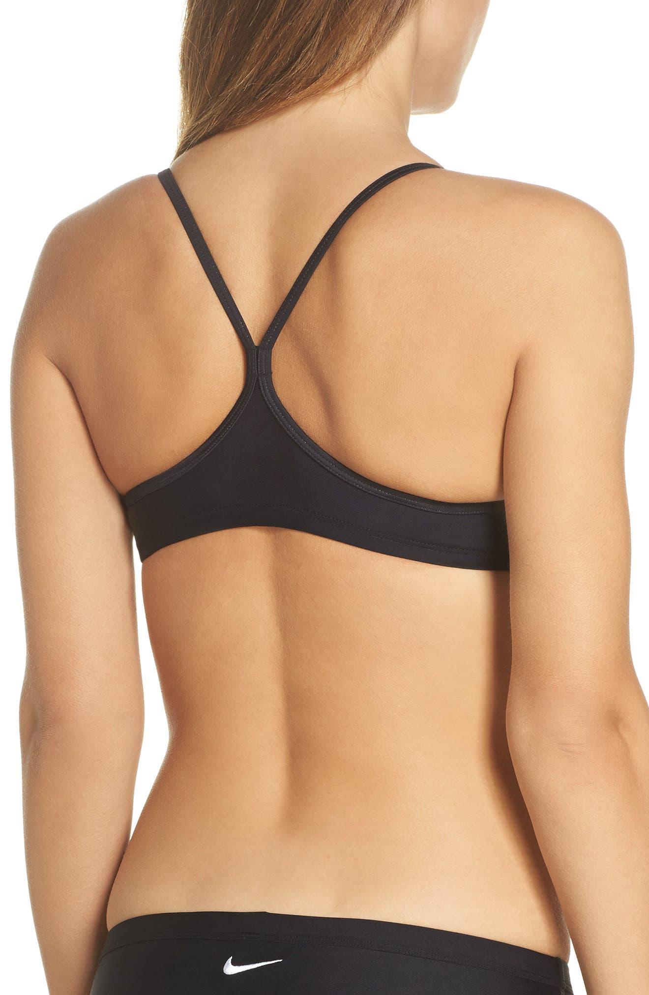 Racerback Bikini Top,                             Alternate thumbnail 2, color,                             BLACK