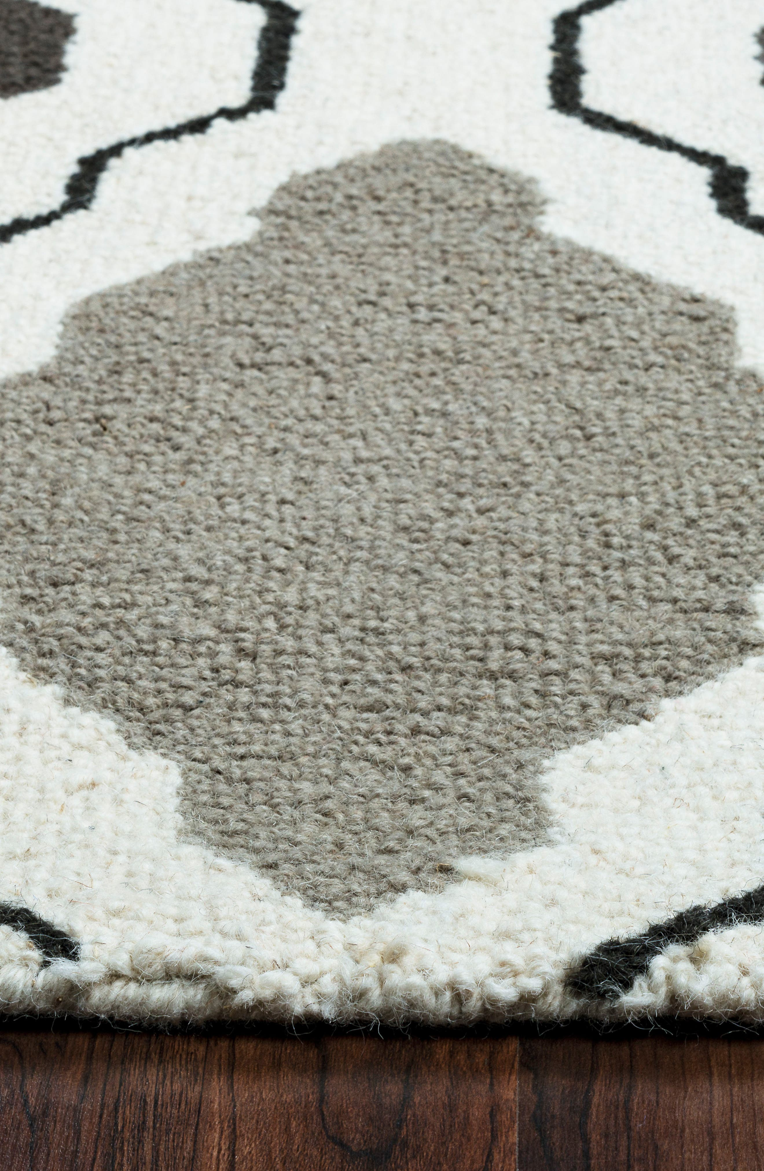 'Ogee' Wool Area Rug,                             Alternate thumbnail 6, color,                             030