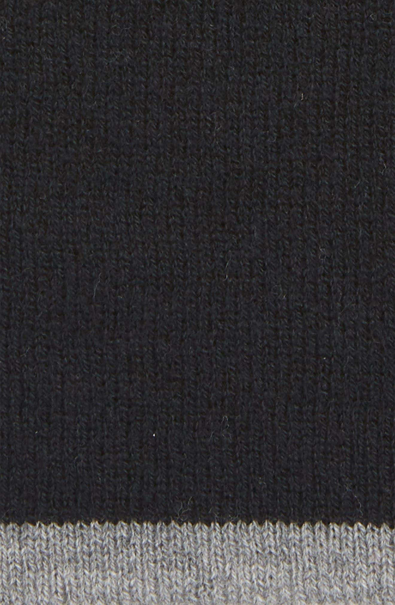 Reversible Merino Beanie,                             Alternate thumbnail 2, color,                             BLACK