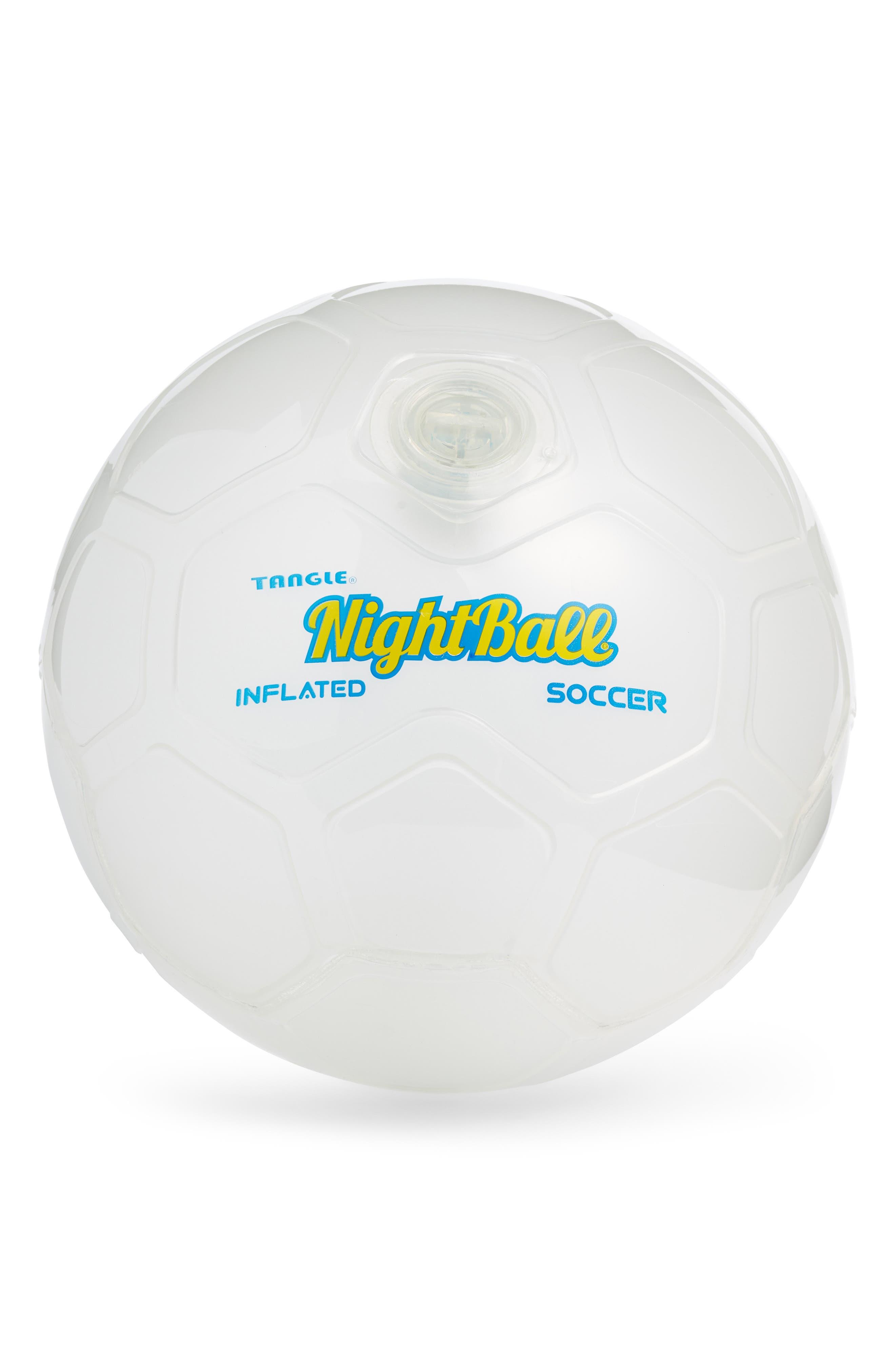 NightBall Soccer Ball,                             Main thumbnail 1, color,                             WHITE