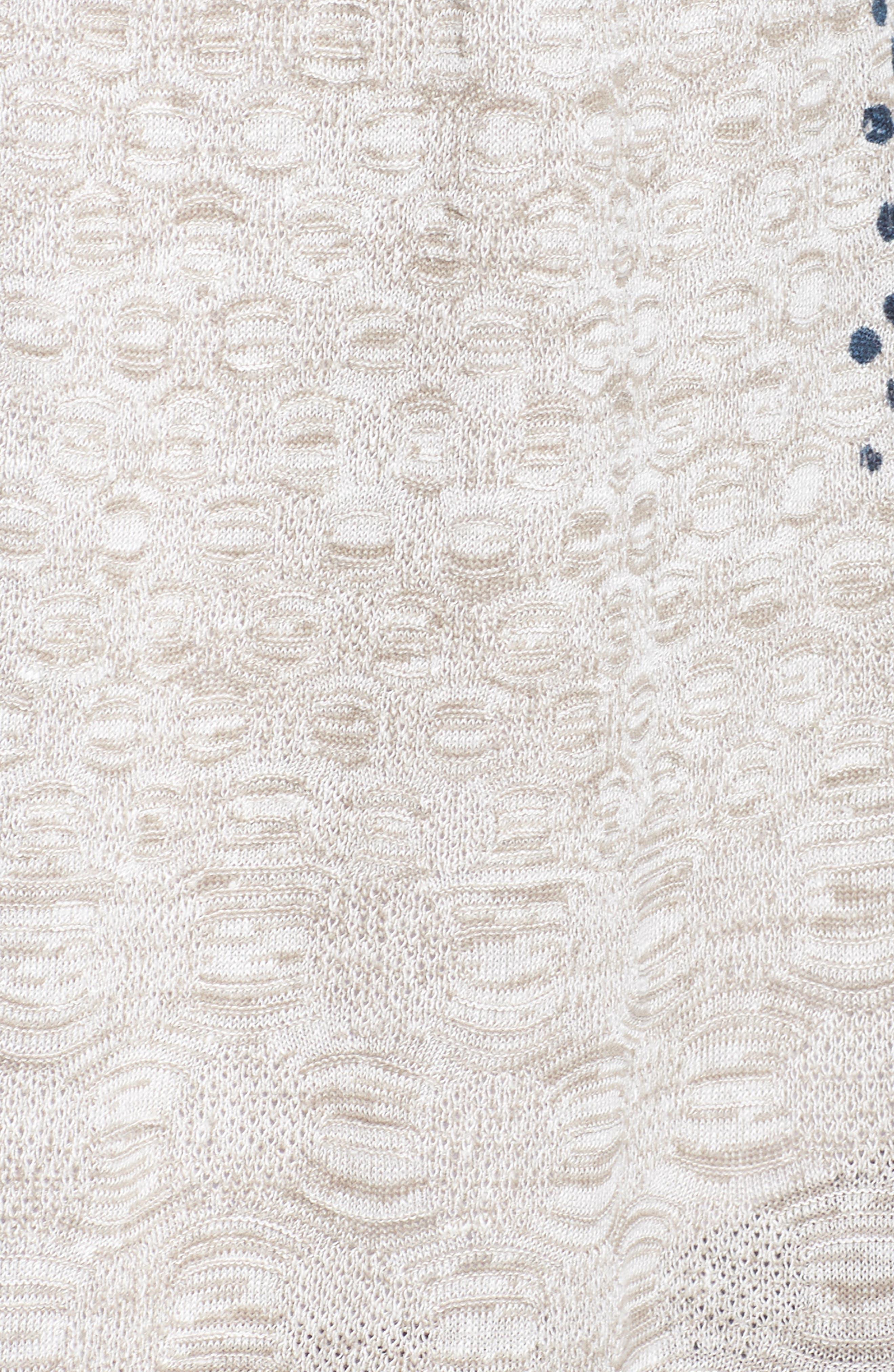Bustle Linen Blend Cardigan,                             Alternate thumbnail 5, color,                             MULTI