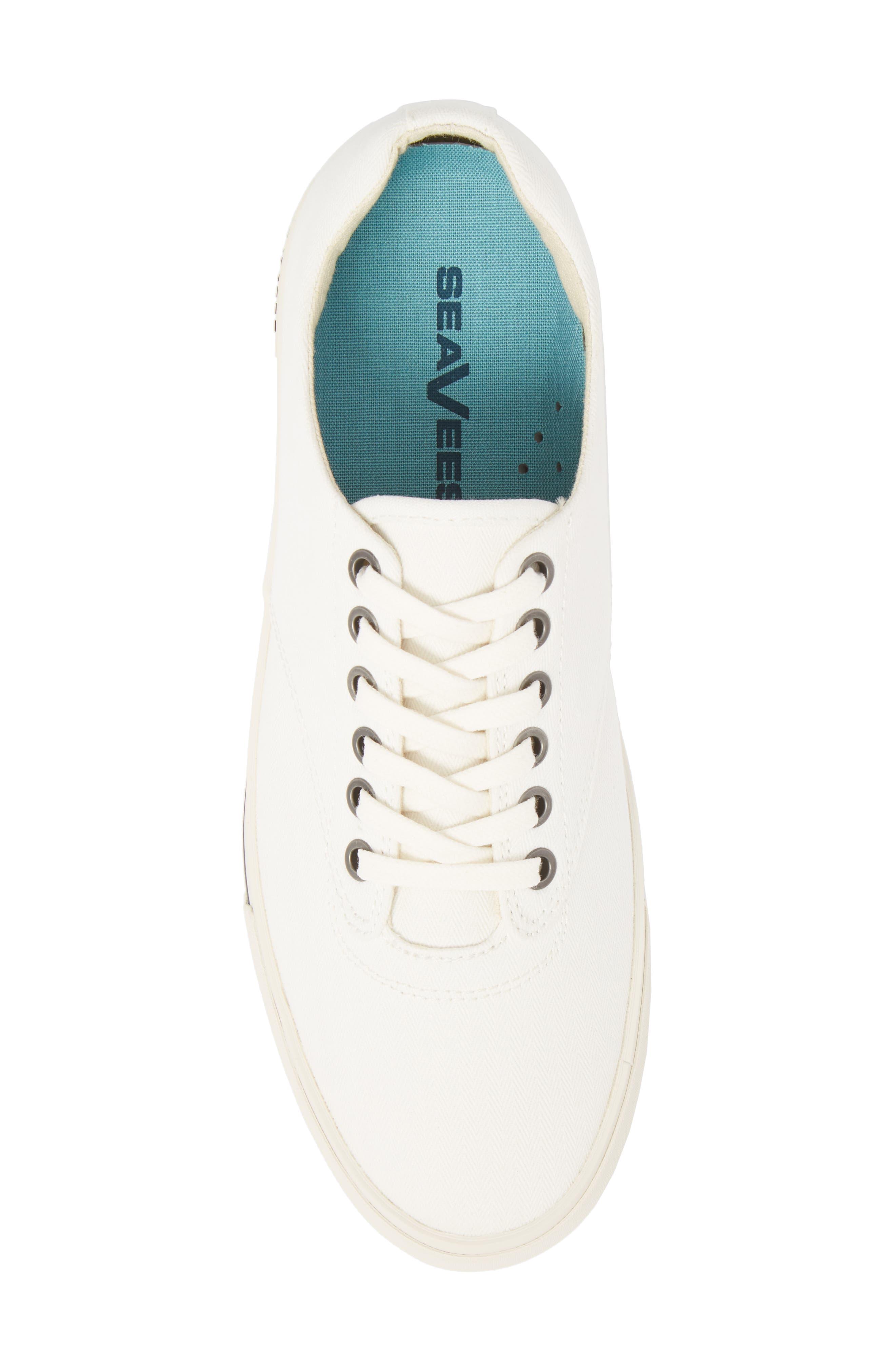 Hermosa Plimsoll Sneaker,                             Alternate thumbnail 5, color,                             BLEACH WHITE