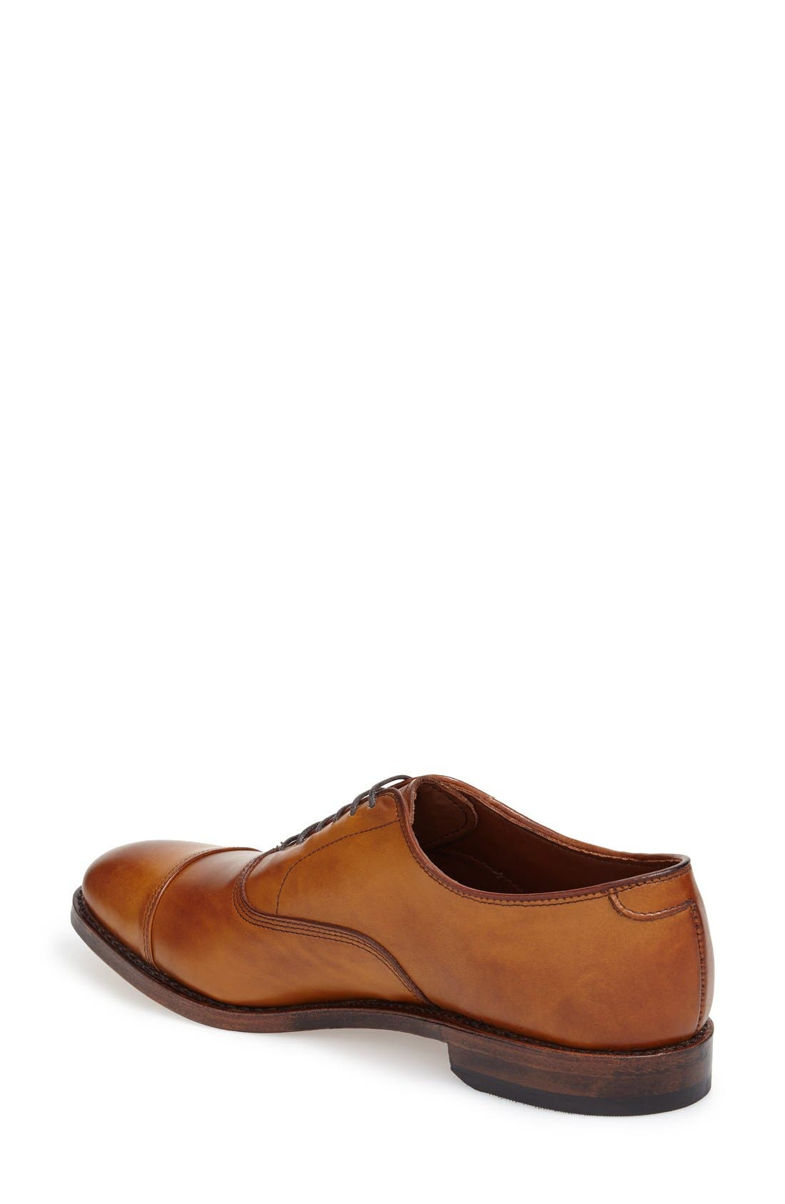 'Park Avenue' Cap Toe Oxford,                             Alternate thumbnail 3, color,                             WALNUT