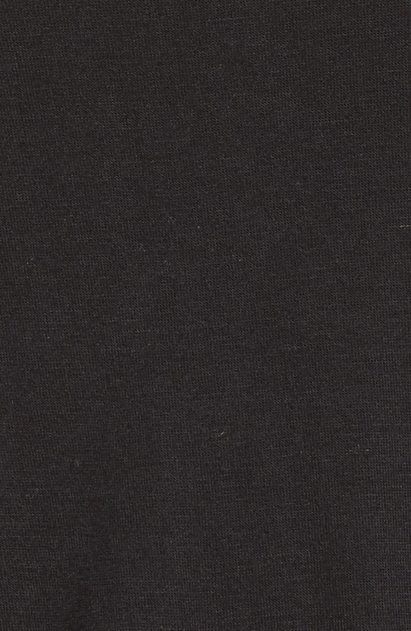 All American Lace Trim Short Pajamas,                             Alternate thumbnail 5, color,                             BLACK