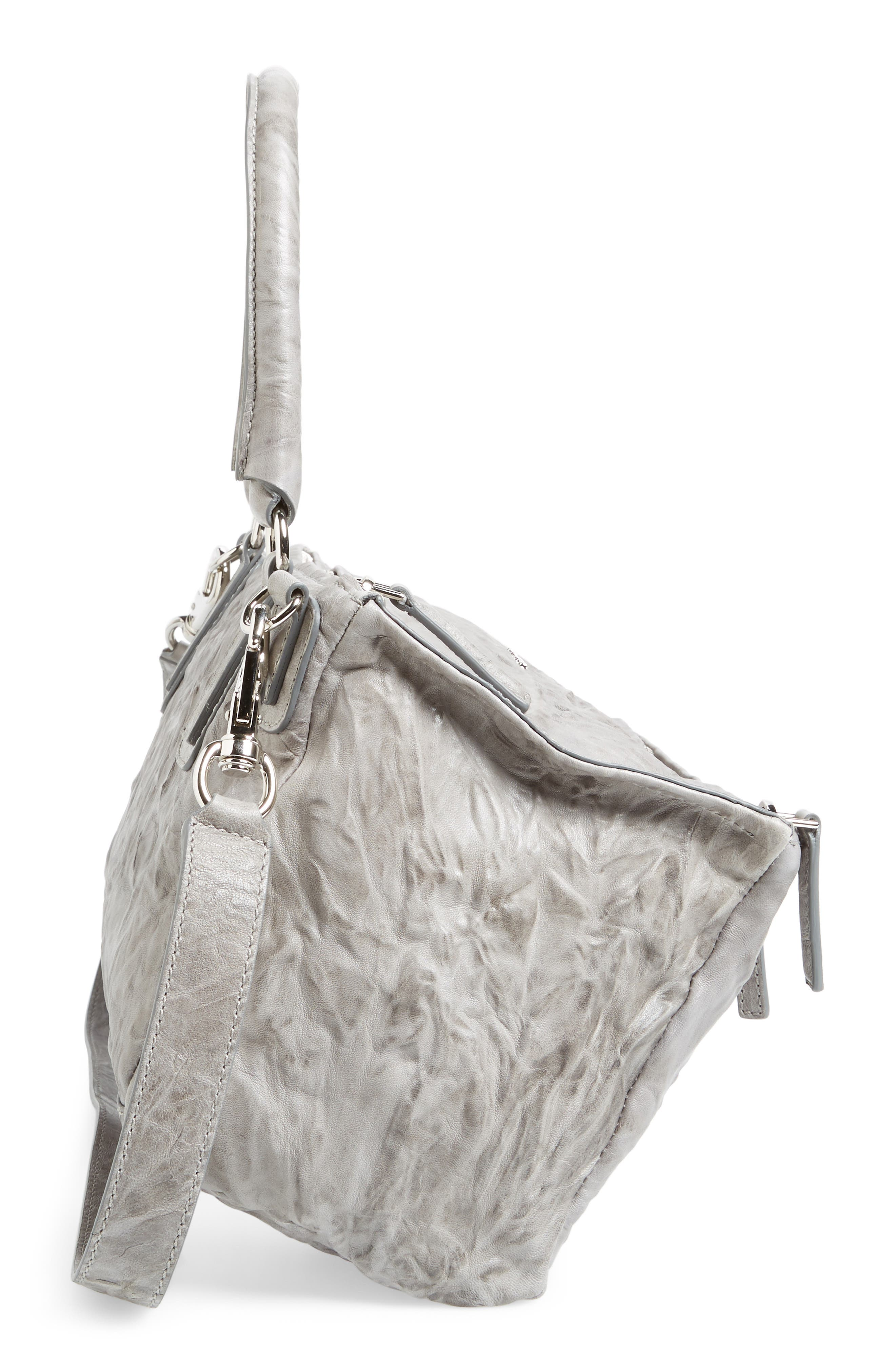 'Medium Pepe Pandora' Leather Satchel,                             Alternate thumbnail 5, color,                             PEARL GREY