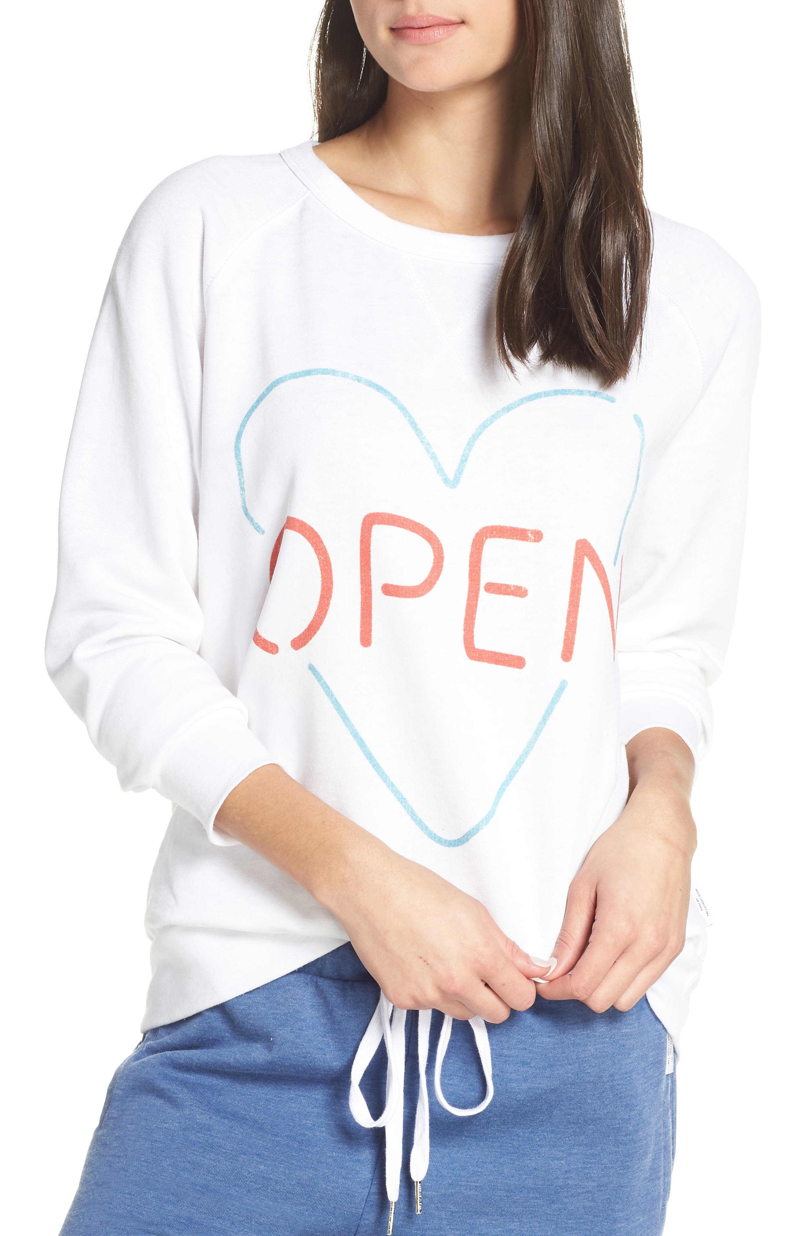 THE LAUNDRY ROOM Open Heart Sweatshirt in White