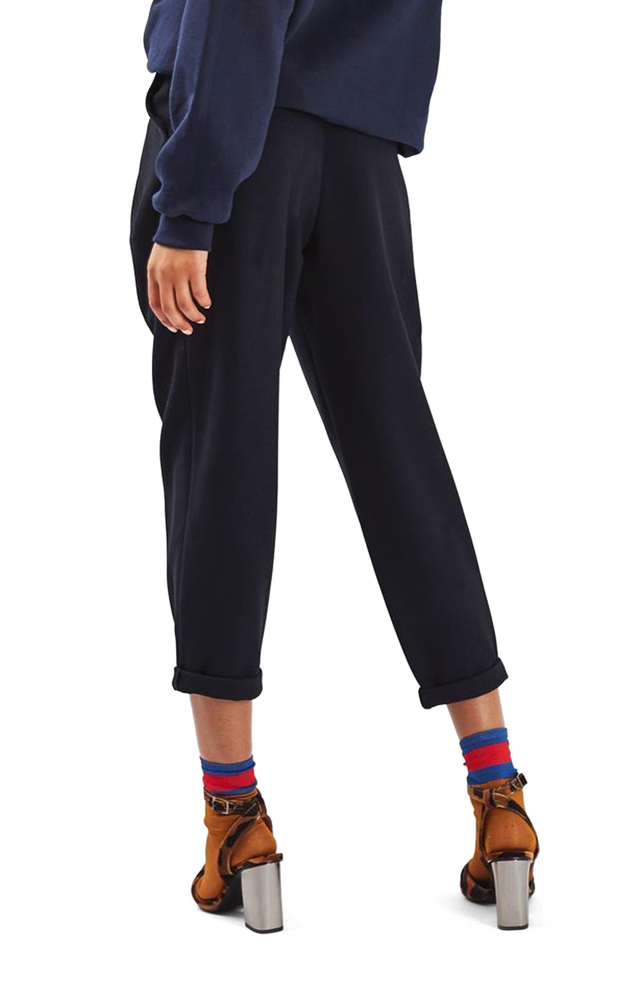 TOPSHOP,                             Mensy Crop Trousers,                             Alternate thumbnail 2, color,                             410