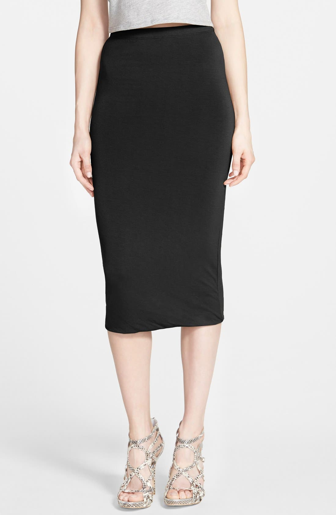 Double Layered Tube Skirt,                         Main,                         color,