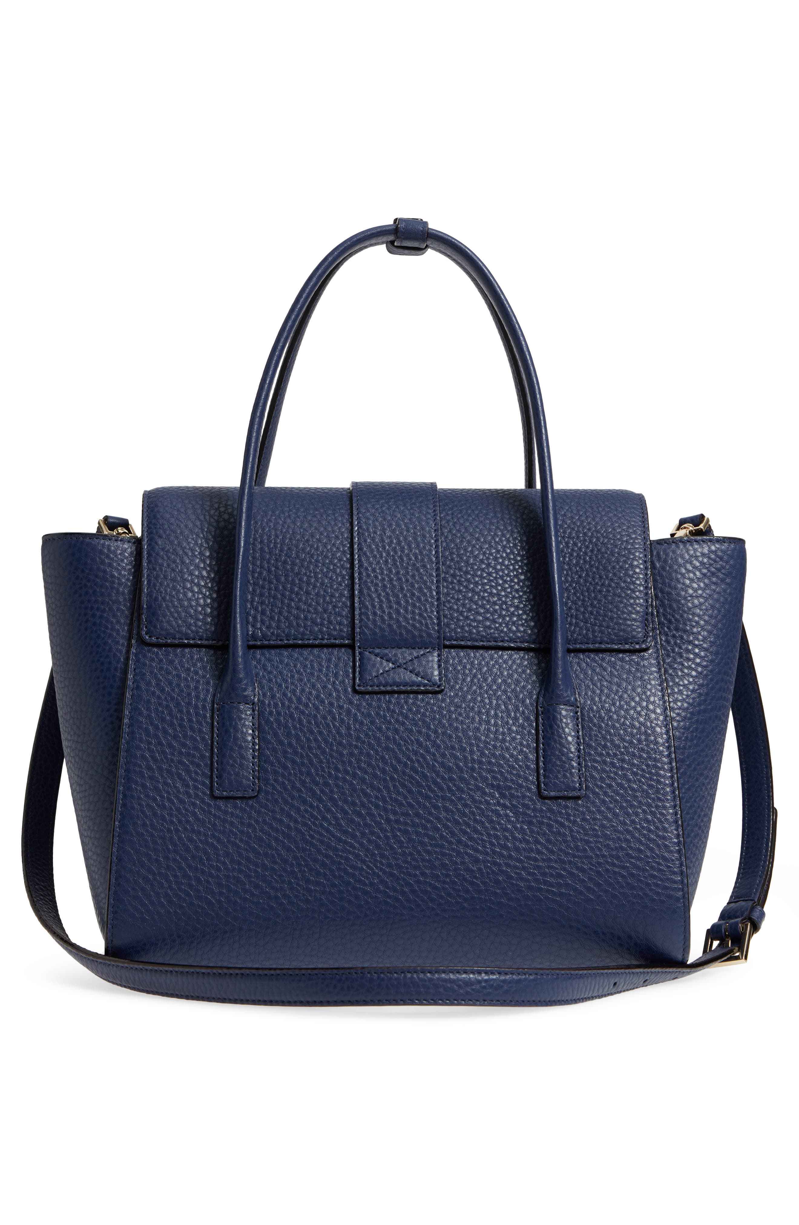 carlyle street - alexa leather satchel,                             Alternate thumbnail 6, color,