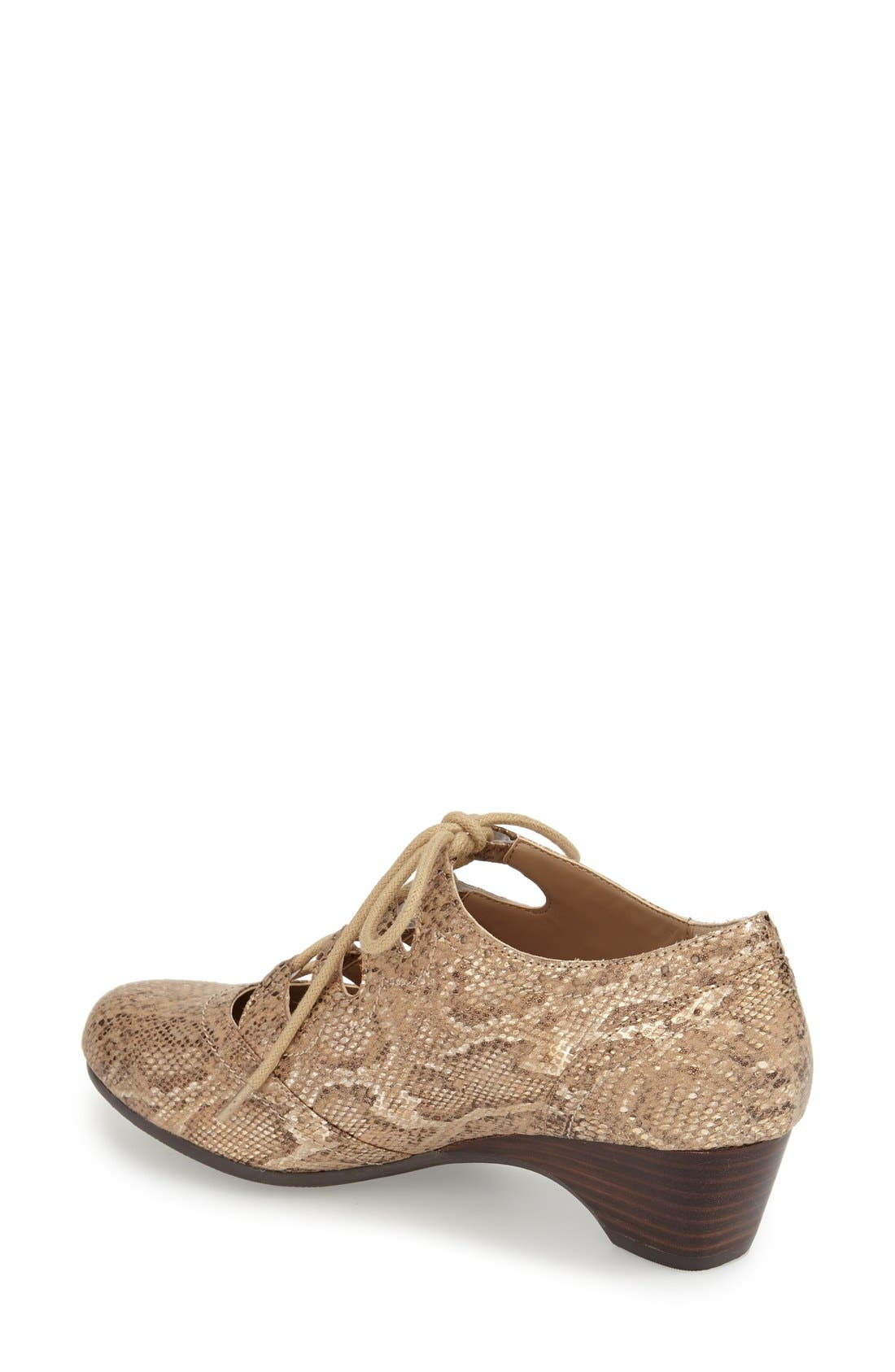 Posie Ghillie Oxford,                             Alternate thumbnail 2, color,                             CHAMPAGNE METALLIC SNAKE